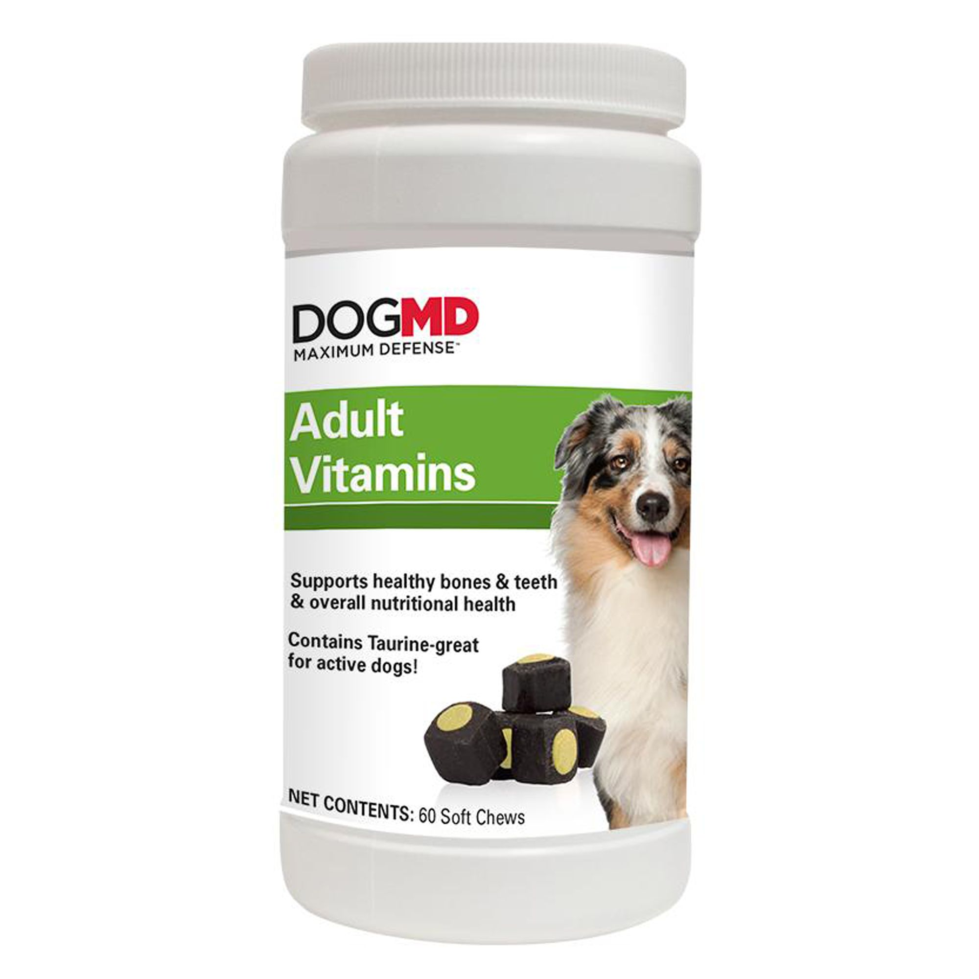 Dog Md Maximum Defense Adult Vitamins Size 60 Count