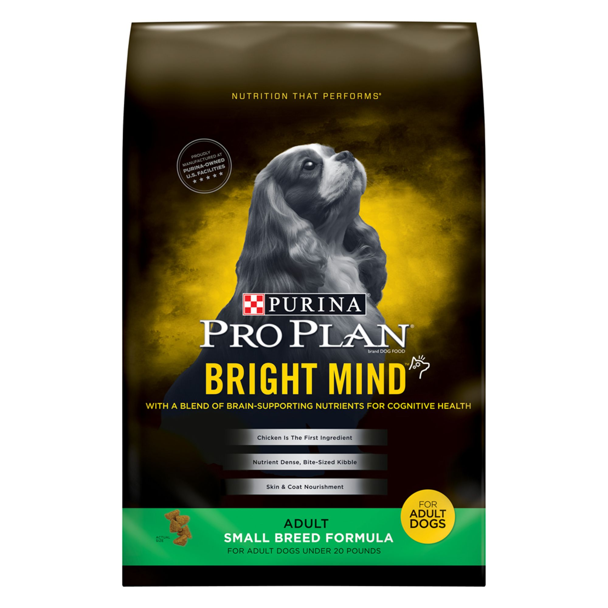 Pro Plan Bright Mind Small Breed Adult Dog Food Chicken Size 16 Lb Purina Pro Plan