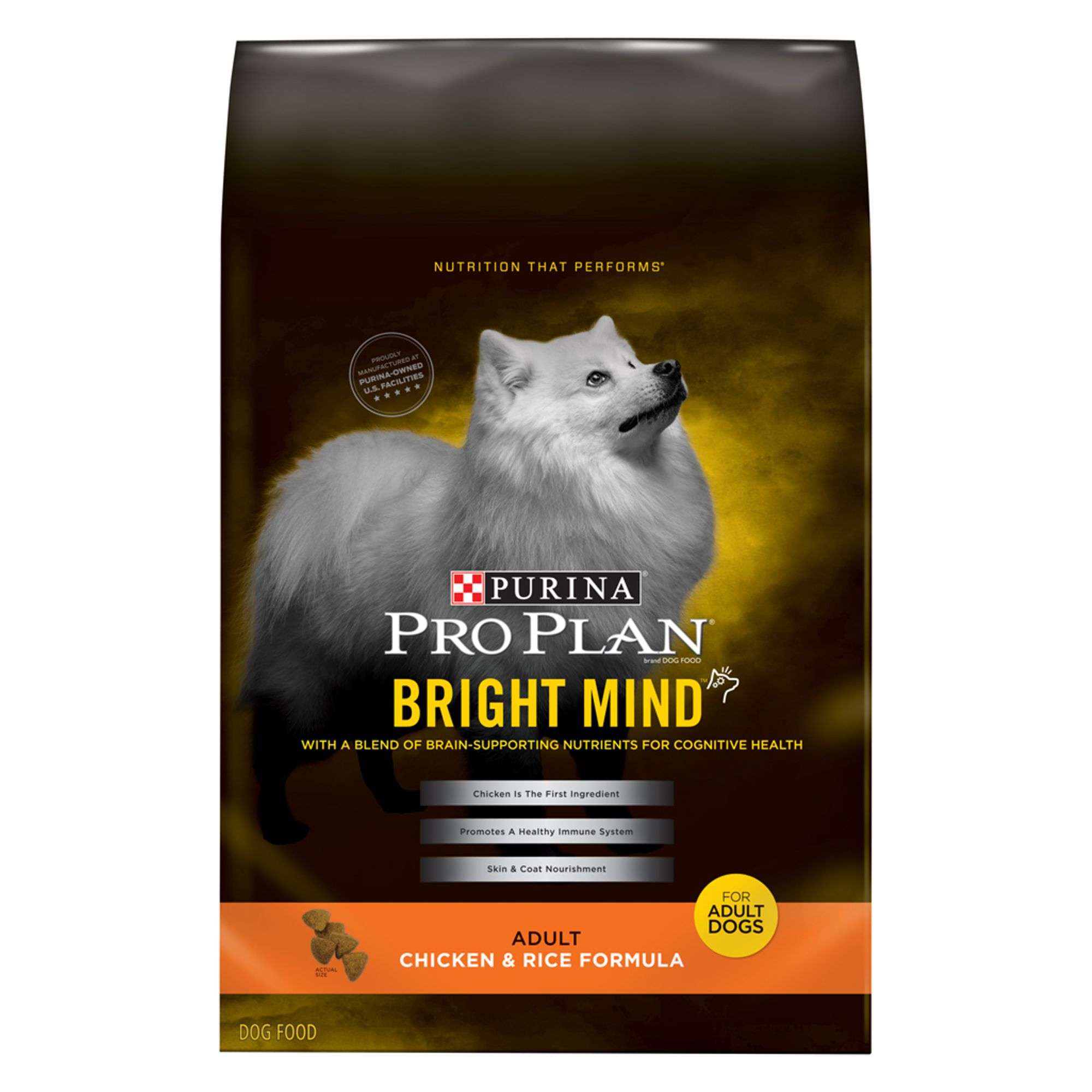 Pro Plan Bright Mind Adult Dog Food Chicken And Rice Size 30 Lb Purina Pro Plan
