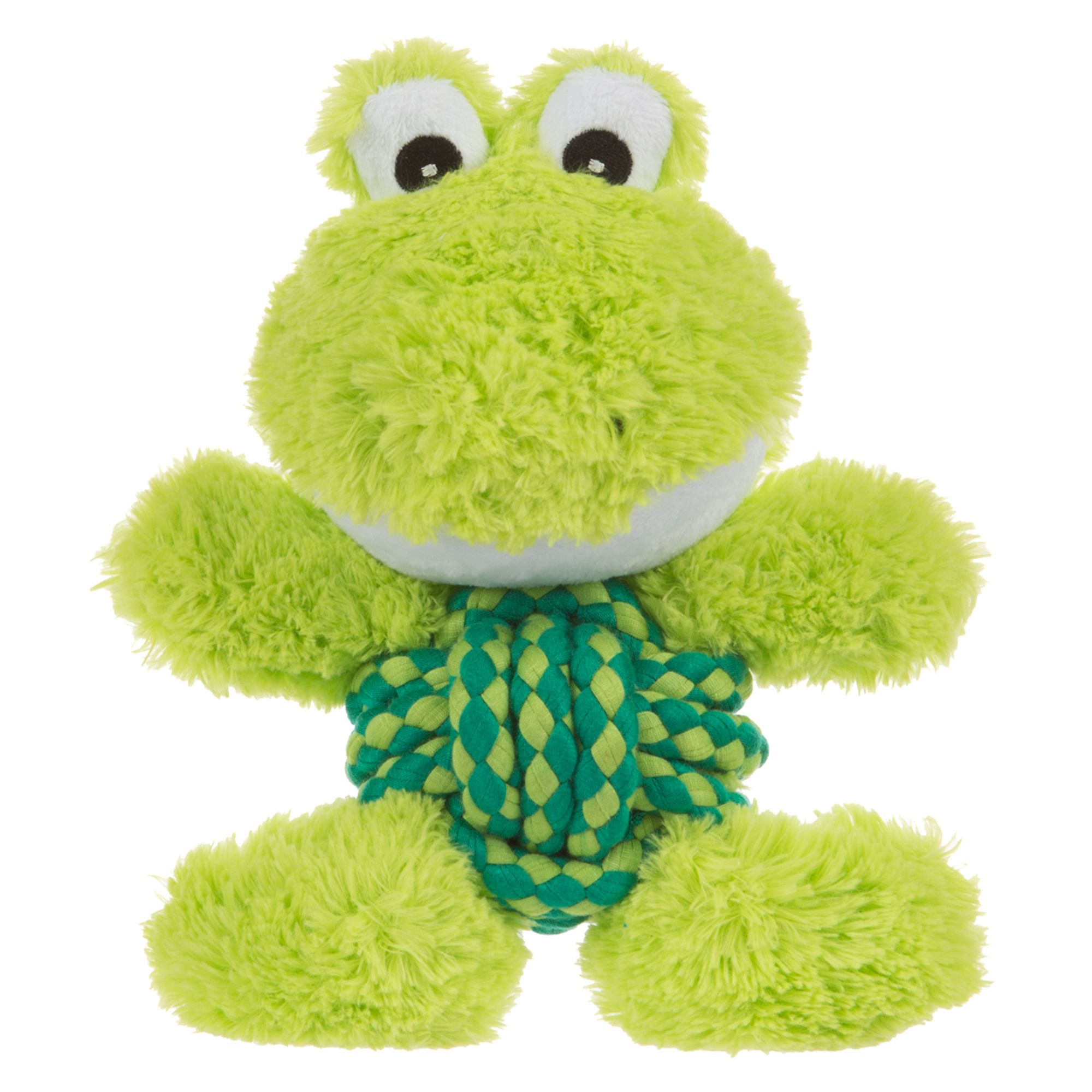 Kong® Weave Knots Frog Dog Toy, Green 5248365