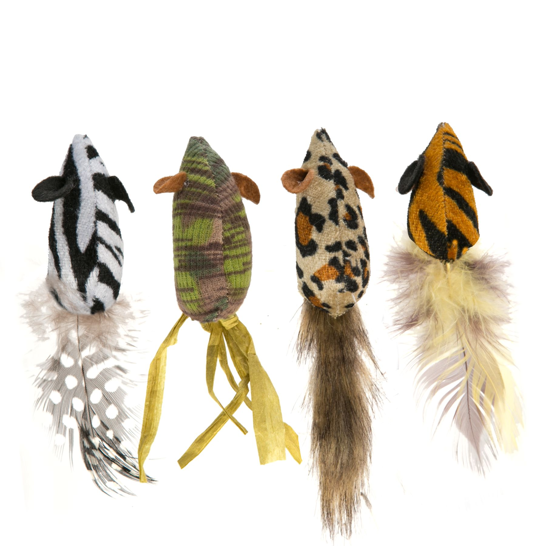 National Geographic, 4 Pack Mice with Tail Cat Toy 5248486