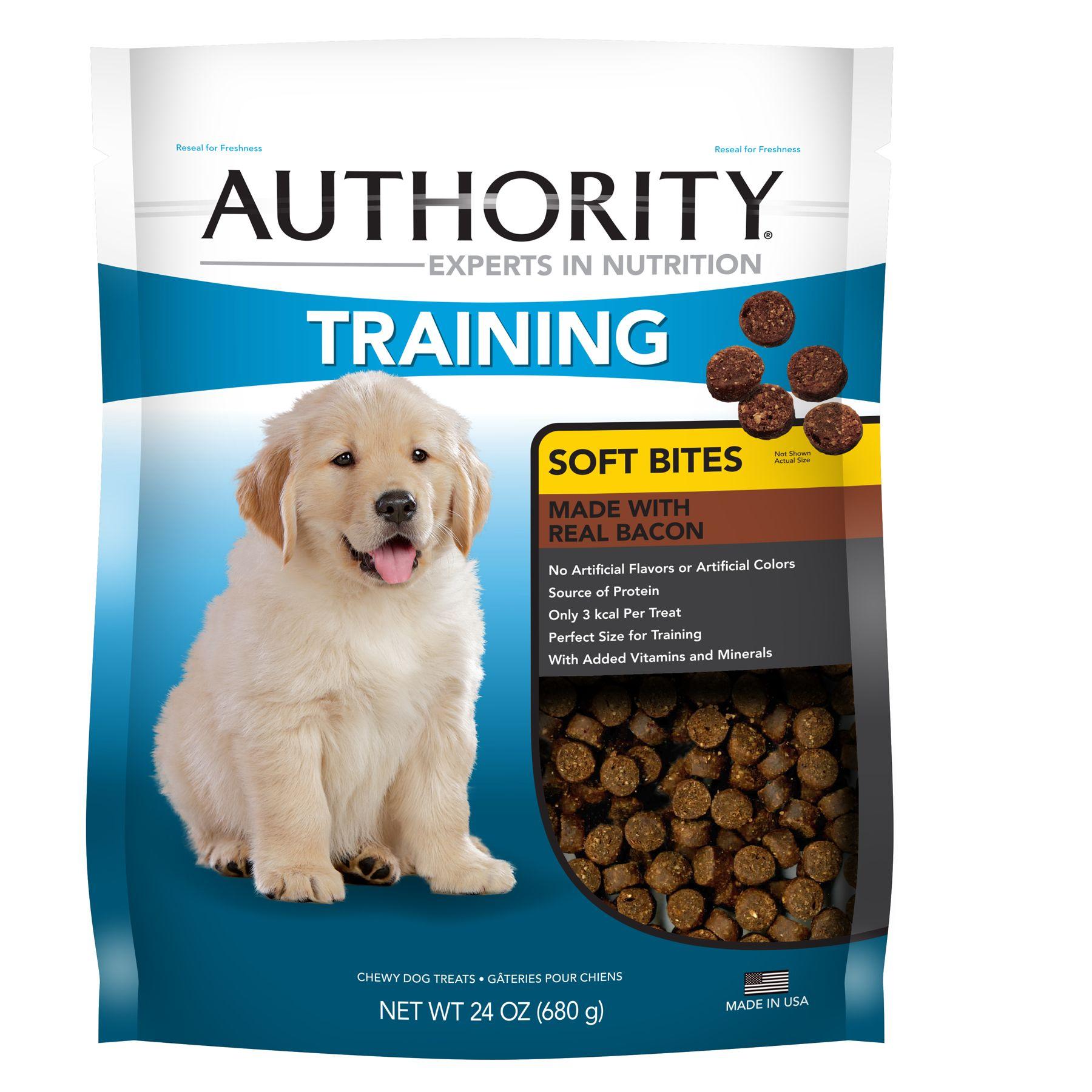 Authority Training Soft Bites Dog Treat - Bacon size: 24 Oz 5248978