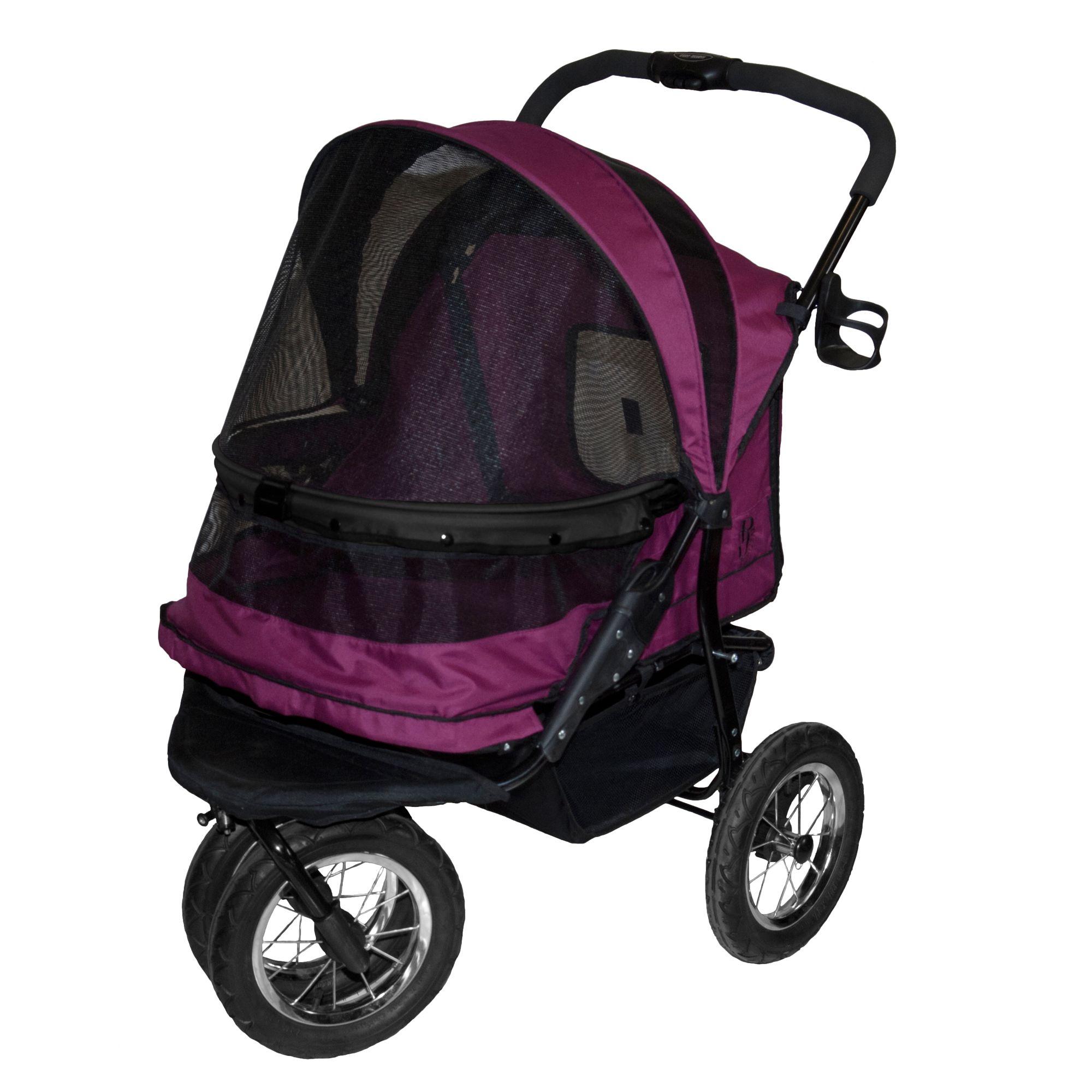 "Pet Gear NO-ZIP Double Pet Stroller size: 27""L x 20""W x 23""H, Purple 5249103"