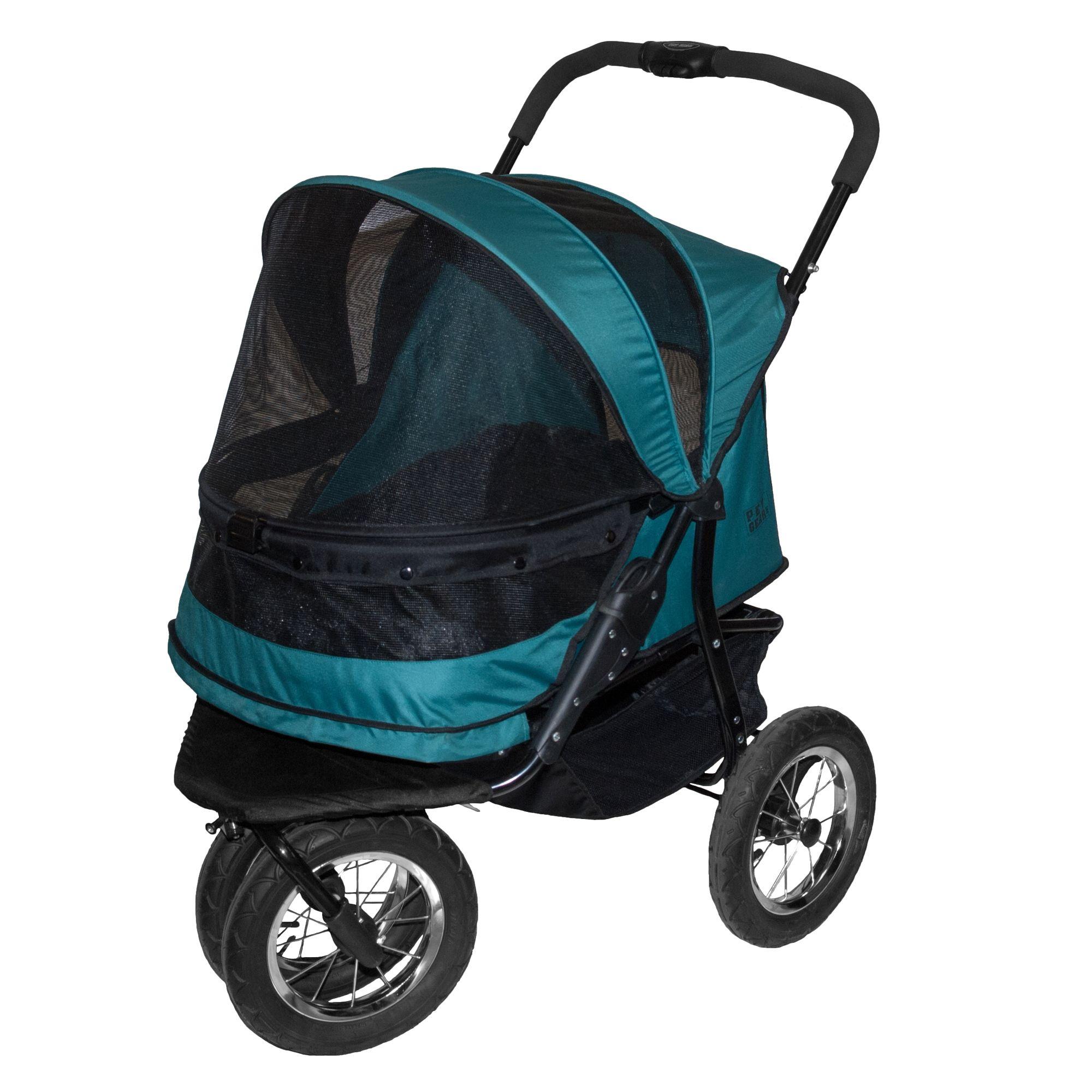 "Pet Gear NO-ZIP Double Pet Stroller size: 27""L x 20""W x 23""H, Blue 5249104"