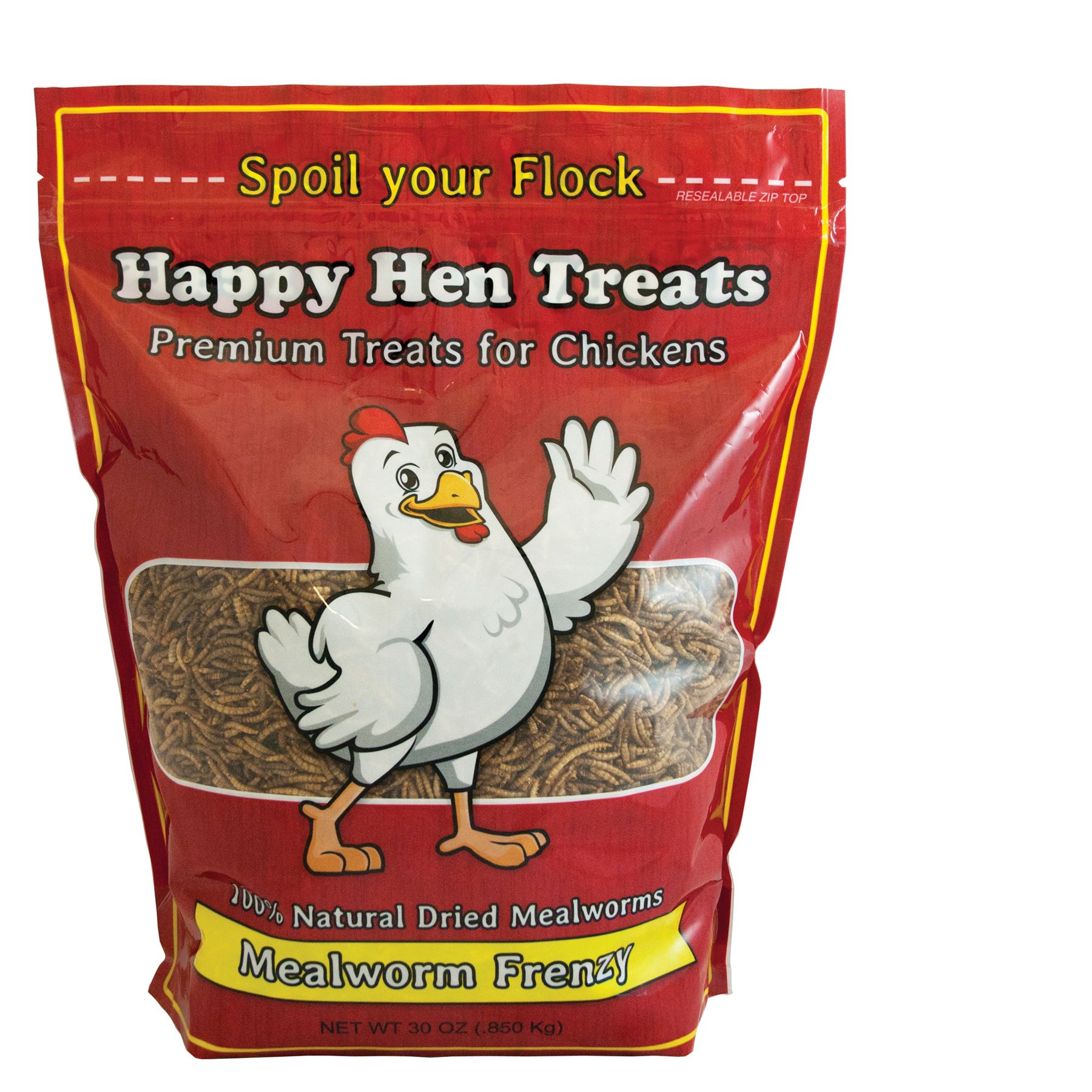 Happy Hen Treats Mealworm Frenzy Chicken Treats Size 30 Oz