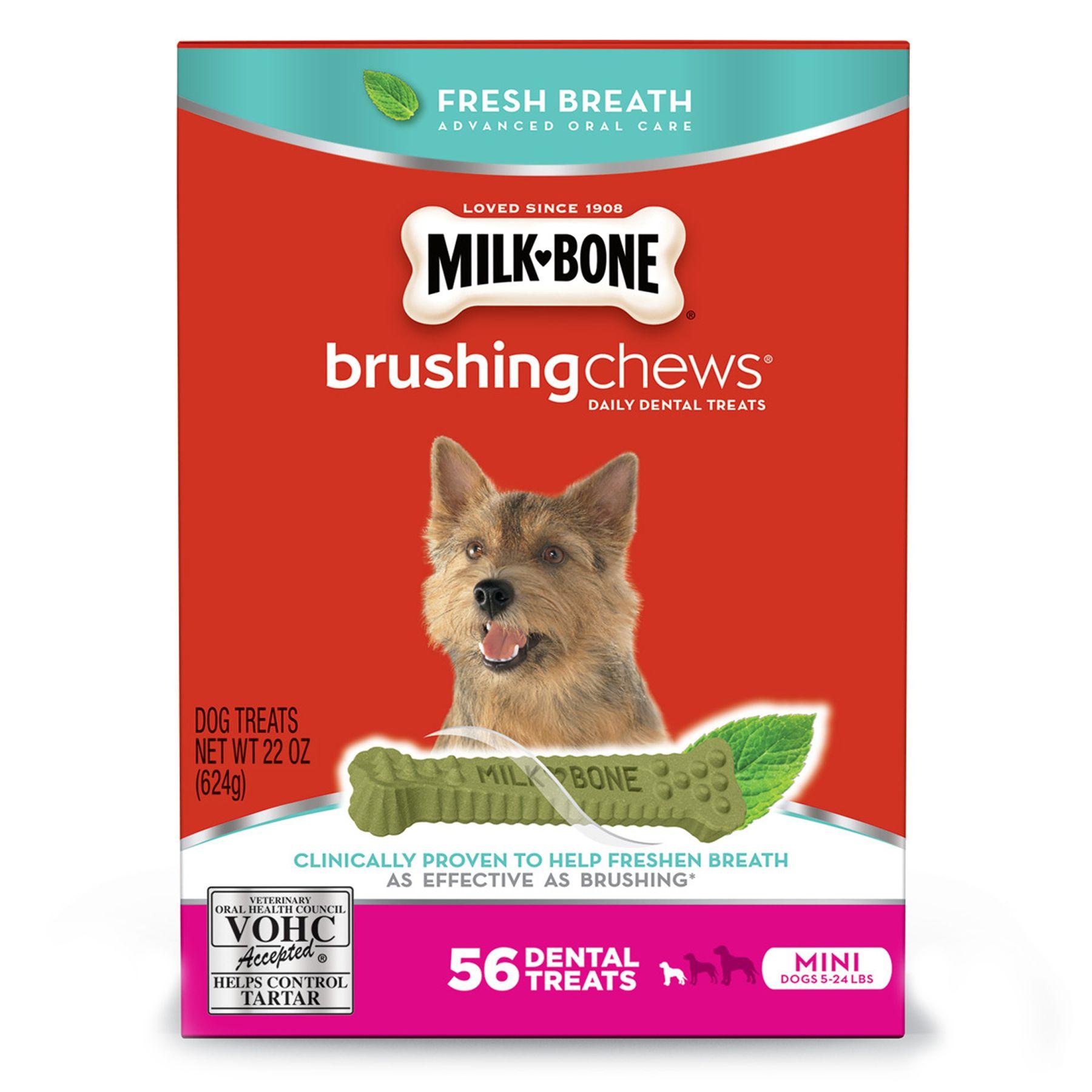 Milk-Bone Brushing Chews Dental Dog Treat - Mini size: 22 Oz, Dry, Rice 5249593