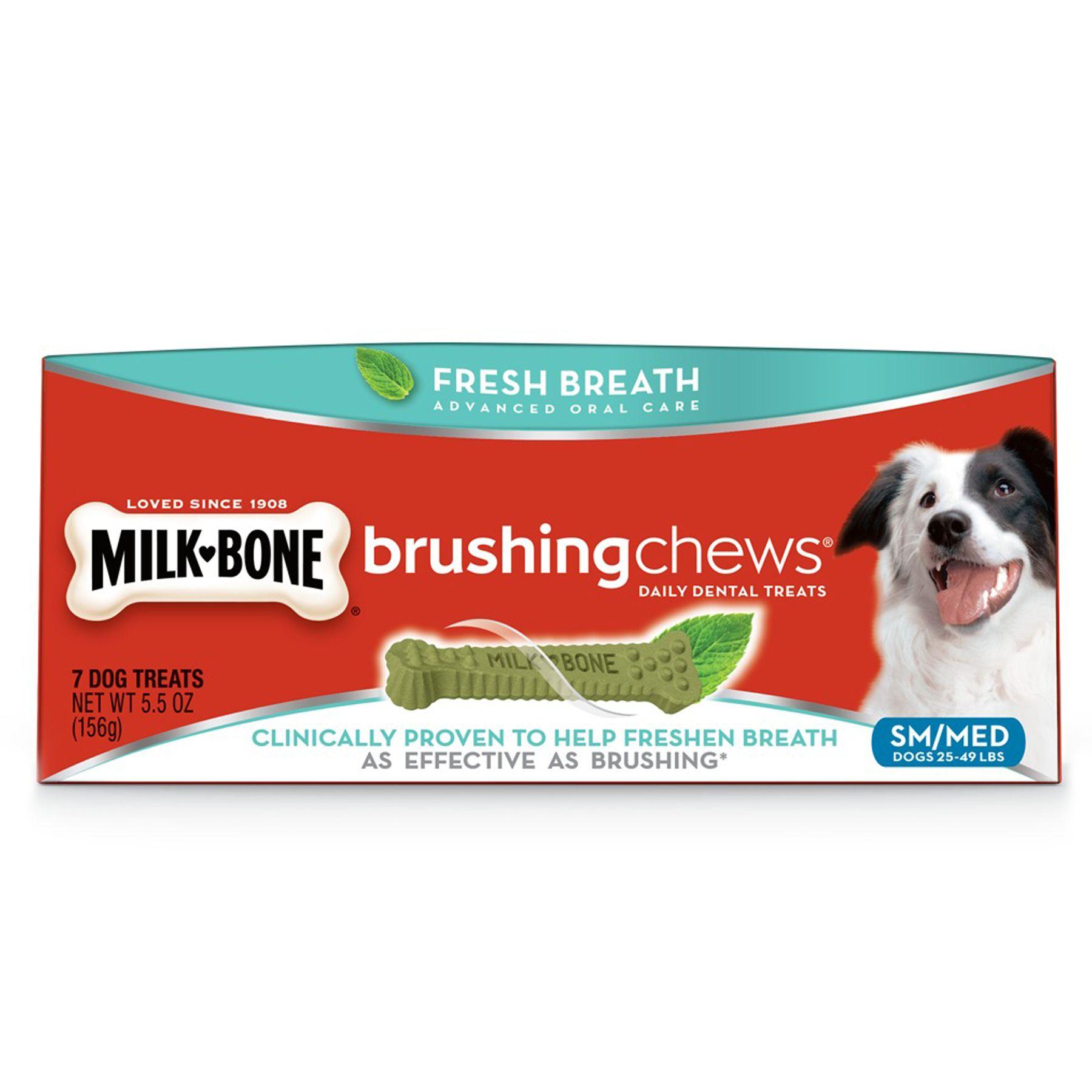 Milk-Bone Brushing Chews Dental Dog Treat - Small/Medium size: 5.5 Oz, Dry, Rice 5249594