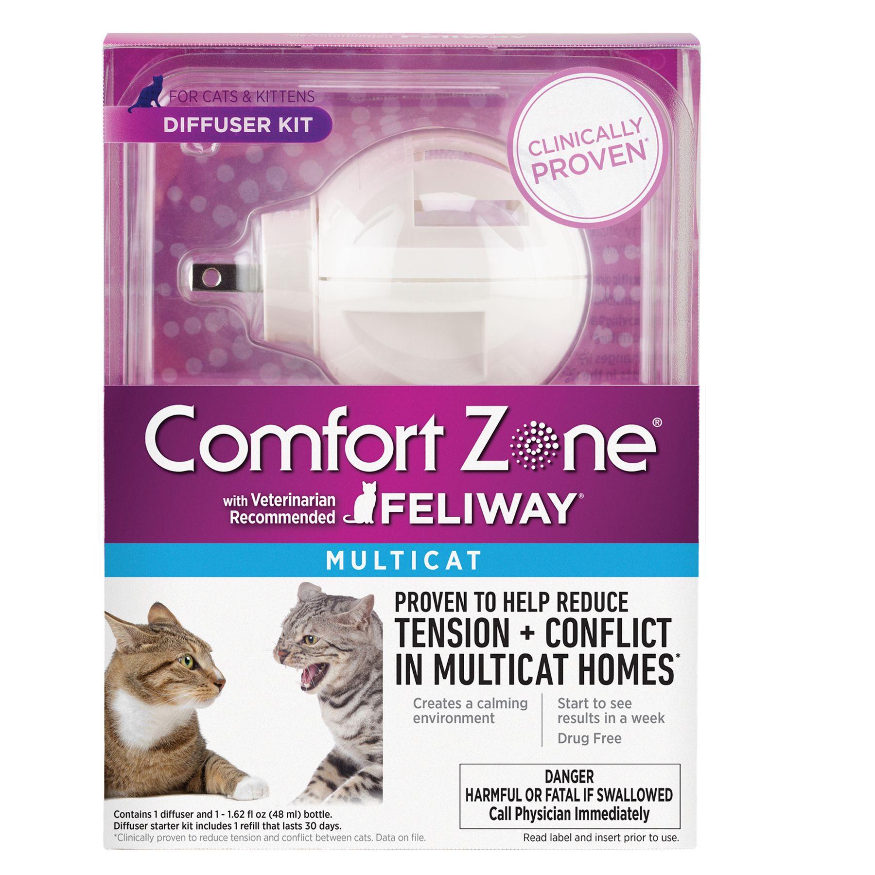 Comfort Zone Feliway Multicat Diffuser Kit