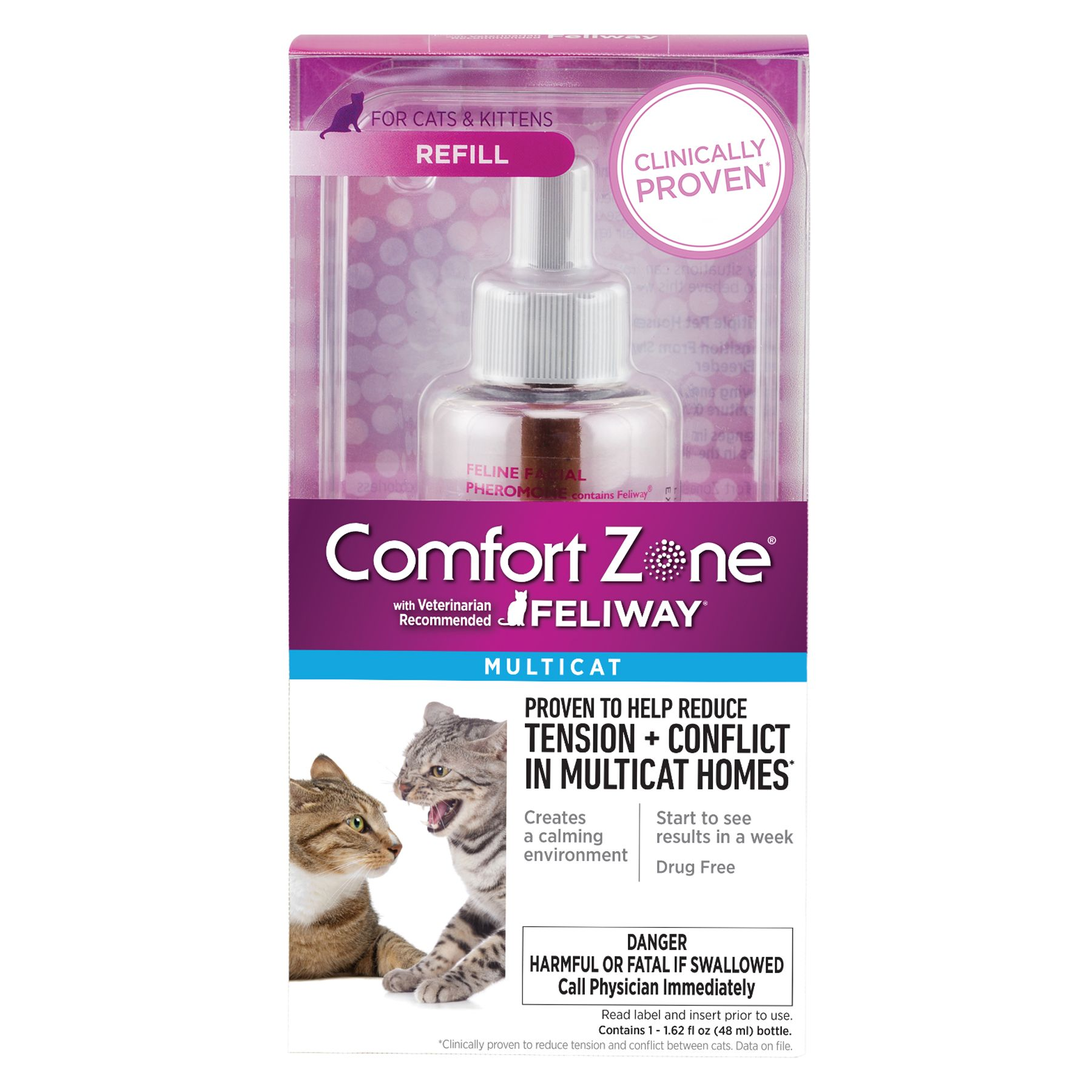 Comfort Zone Feliway Multicat Diffuser Refill