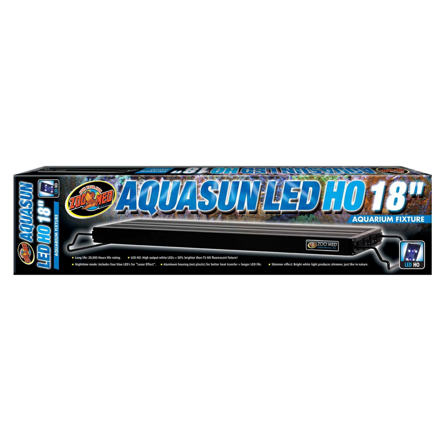 Zoo Med, AquaSun LED Aquarium Light size: 18 in 5249684