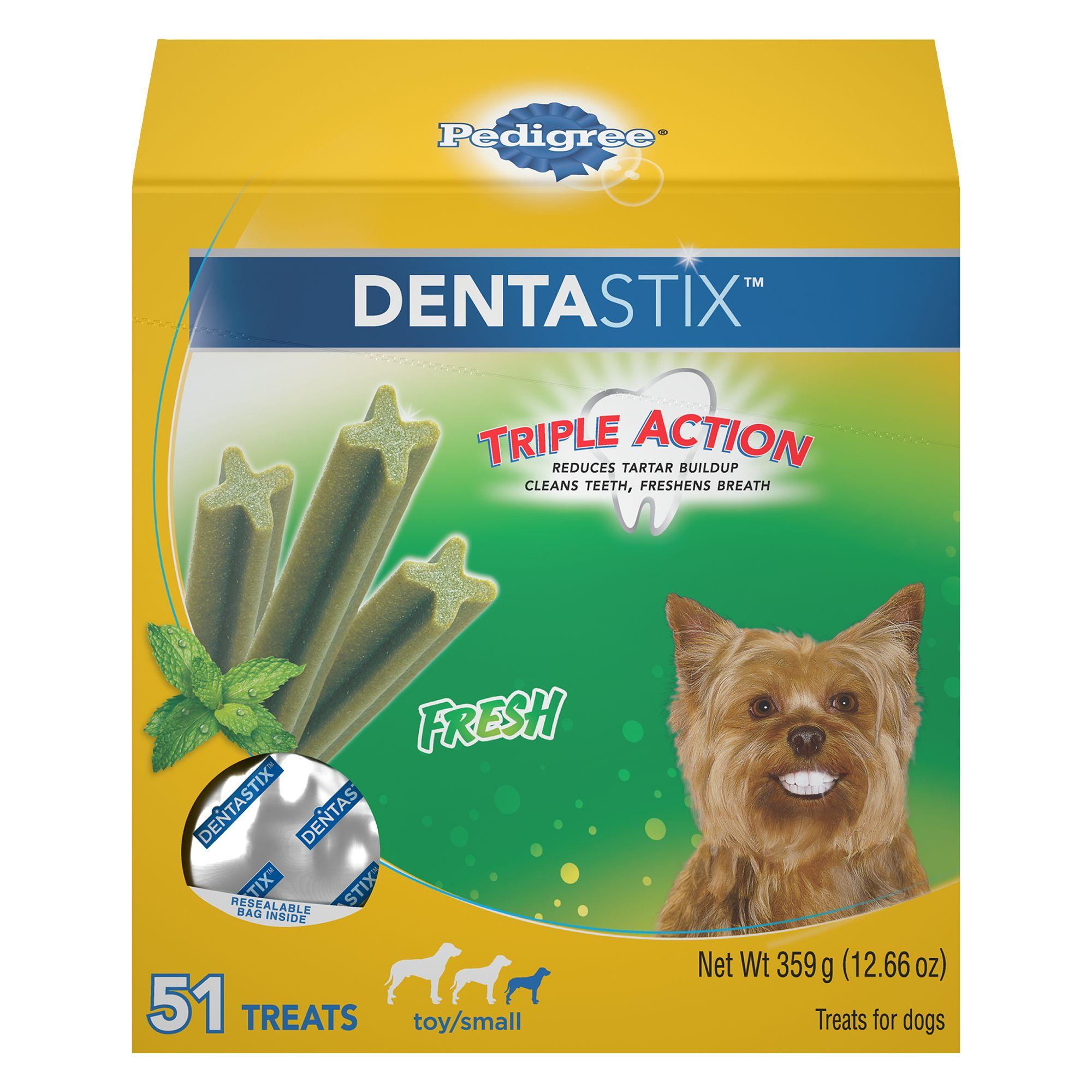 Pedigree® Dentastix® Triple Action Small Dog Treat - Fresh size: 51 Count 5249695