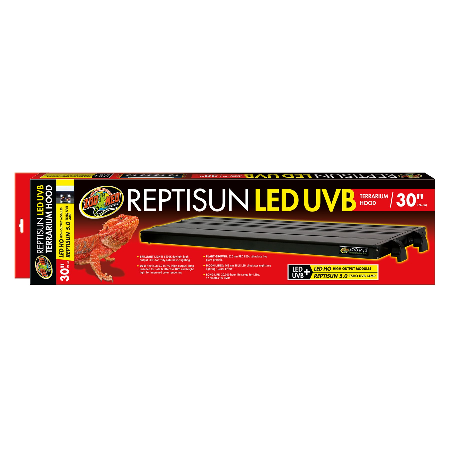 Zoo Med, ReptiSun LED UVB Reptile Terrarium Hood size: 30 in 5249763