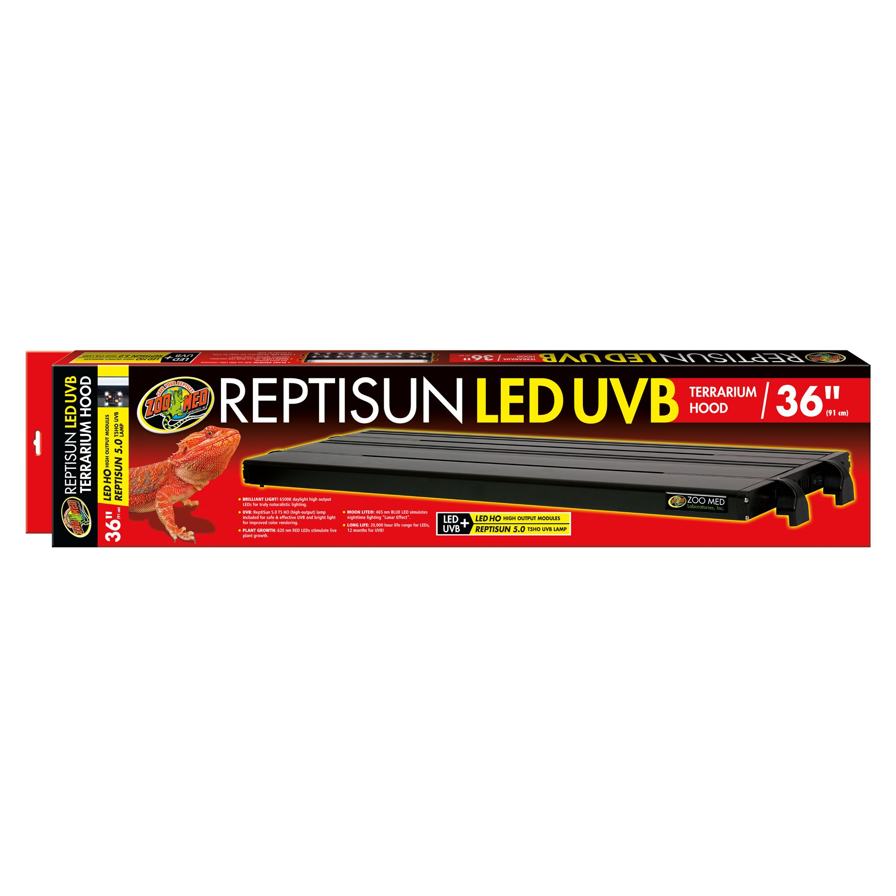Zoo Med, ReptiSun LED UVB Reptile Terrarium Hood size: 36 in 5249775