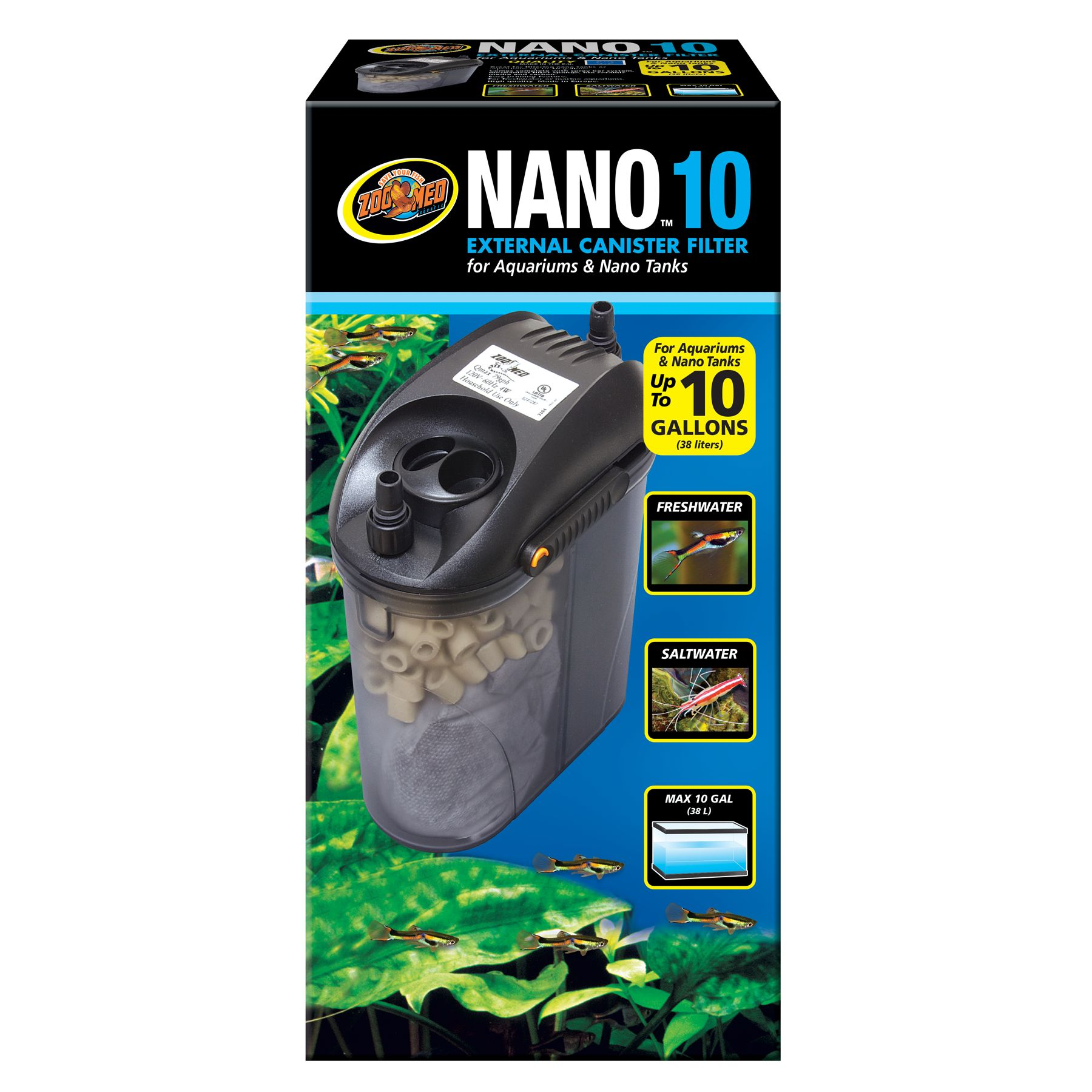 Zoo Med, Nano, External Canister Filter size: 10 Gal 5249807