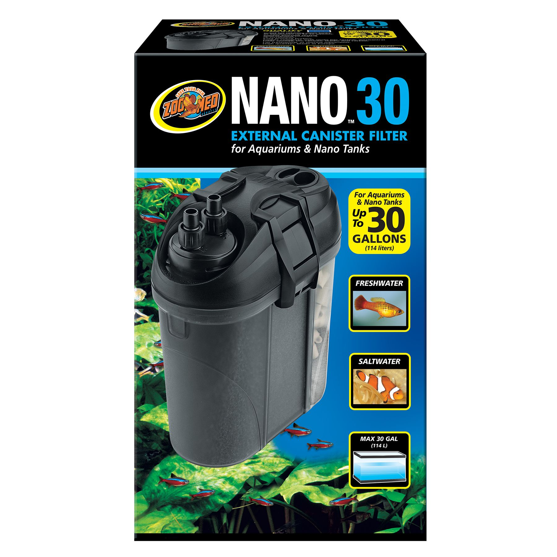 Zoo Med, Nano, External Canister Filter size: 30 Gal 5249808