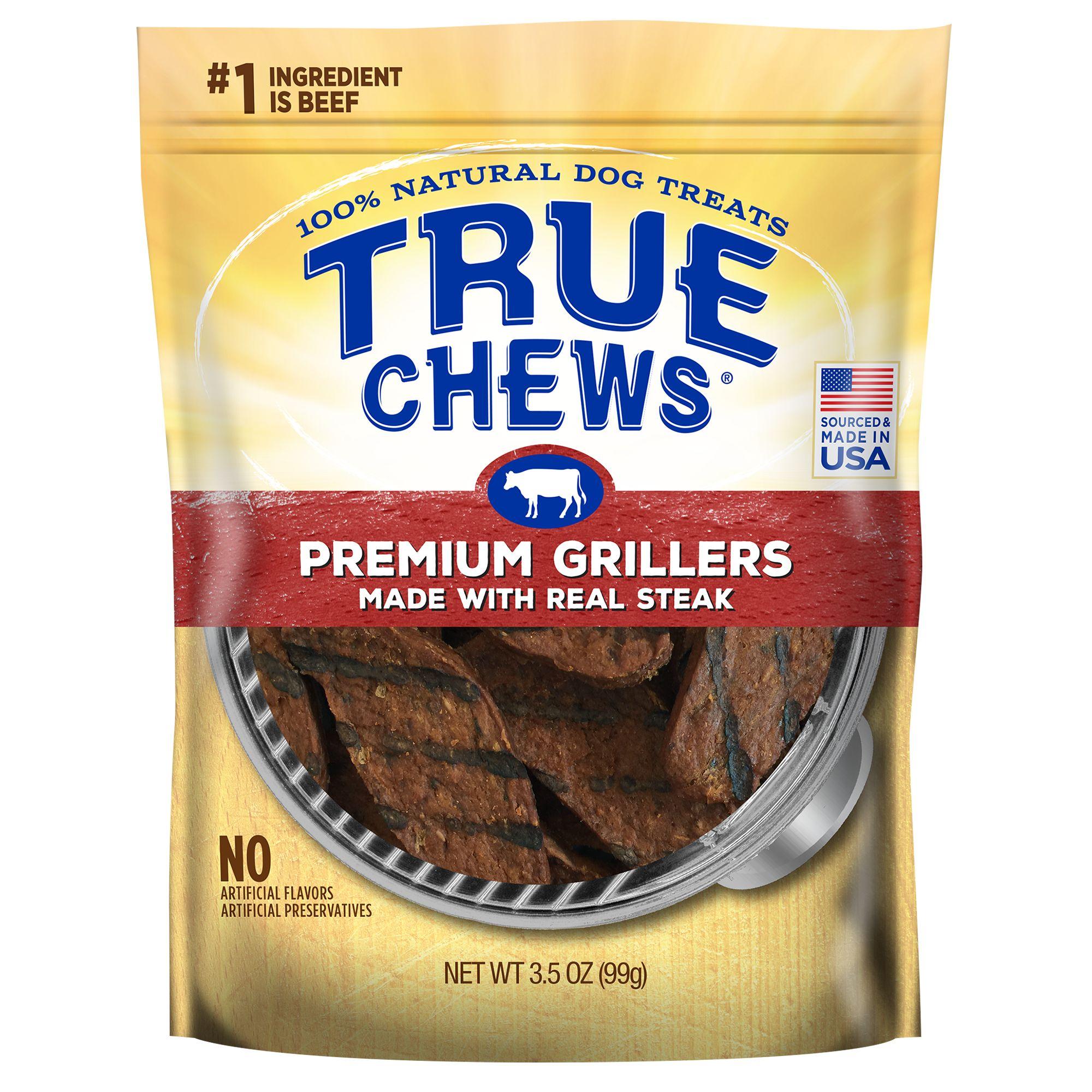 True Chews Premium Grillers Dog Treat Natural Sirloin Steak Size 4 Oz