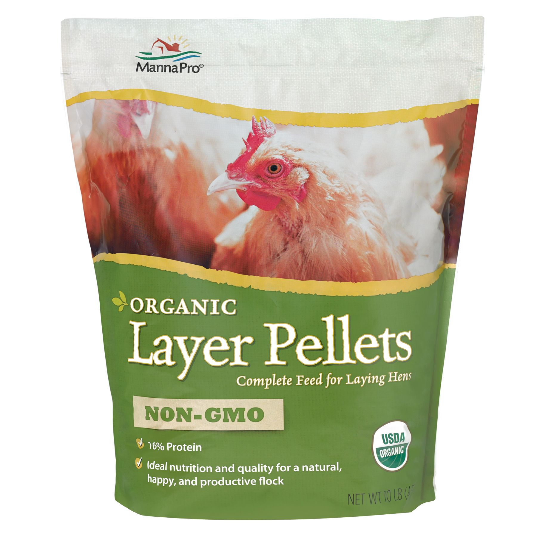 Manna Pro Chicken Organic Layer Pellets Size 10 Lb