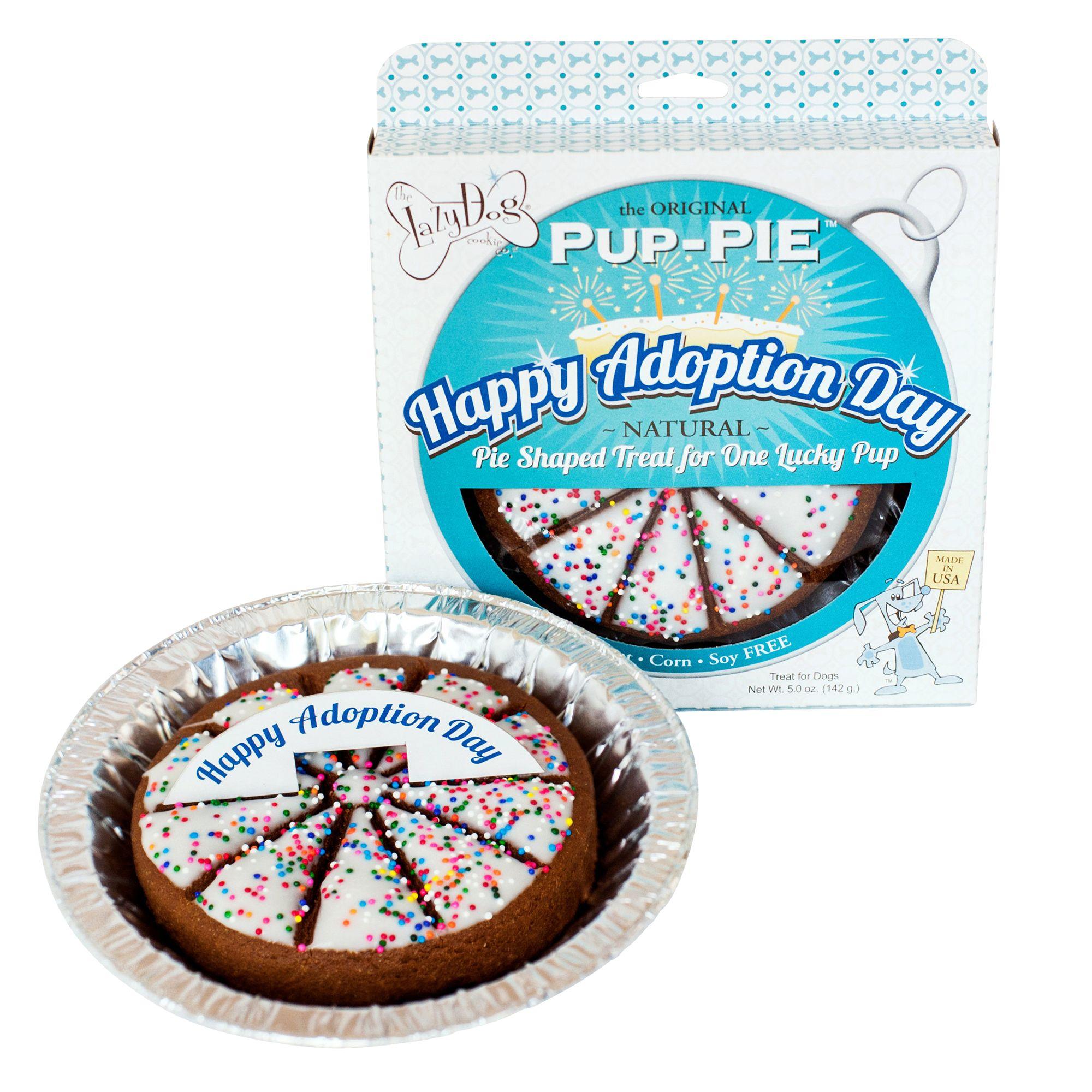 The Lazy Dog Cookie Company Pup Pie Dog Treat Happy Adoption Day Size 5 Oz