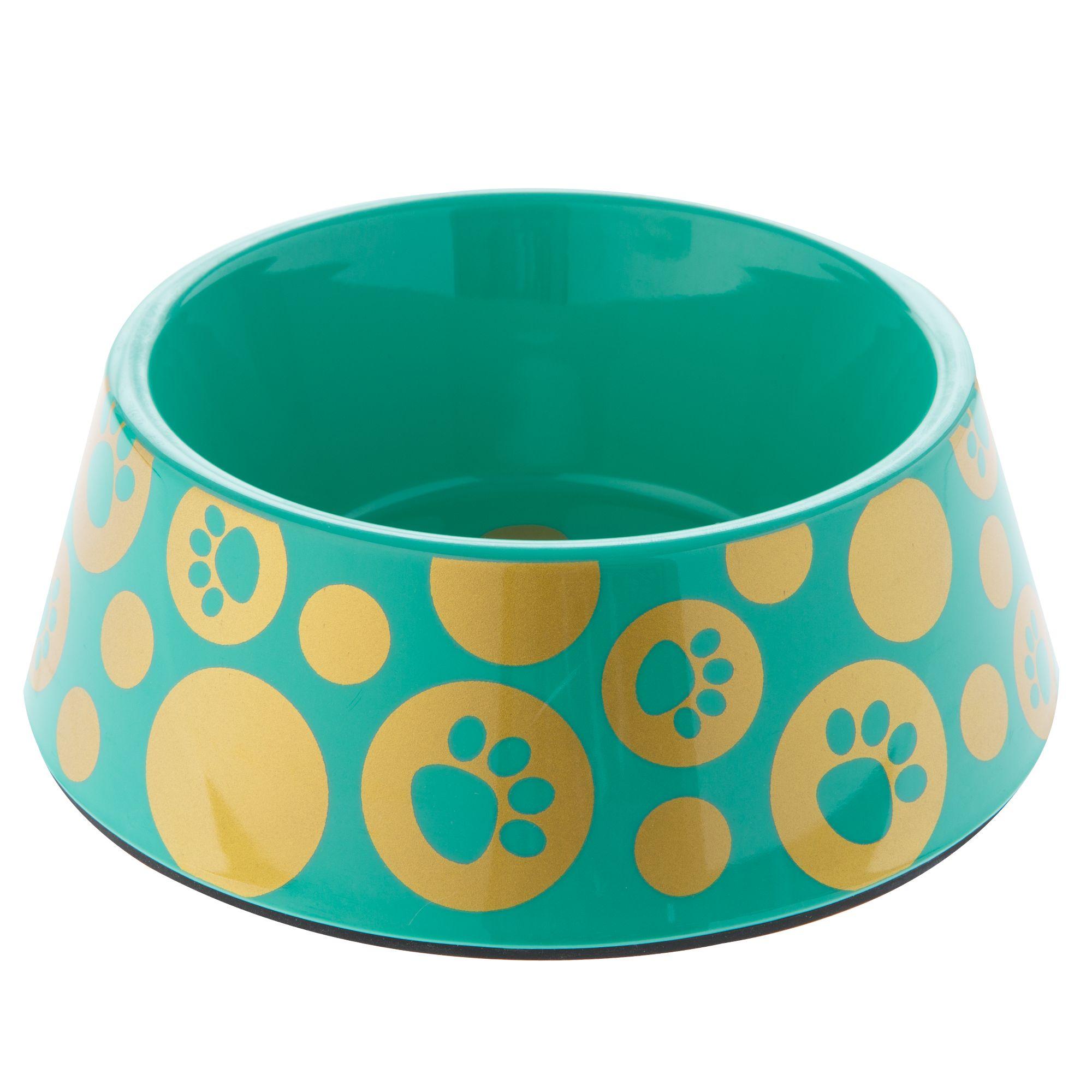 Top Paw Glitz Paws Dog Bowl size: 3 C, Turquoise 5250219