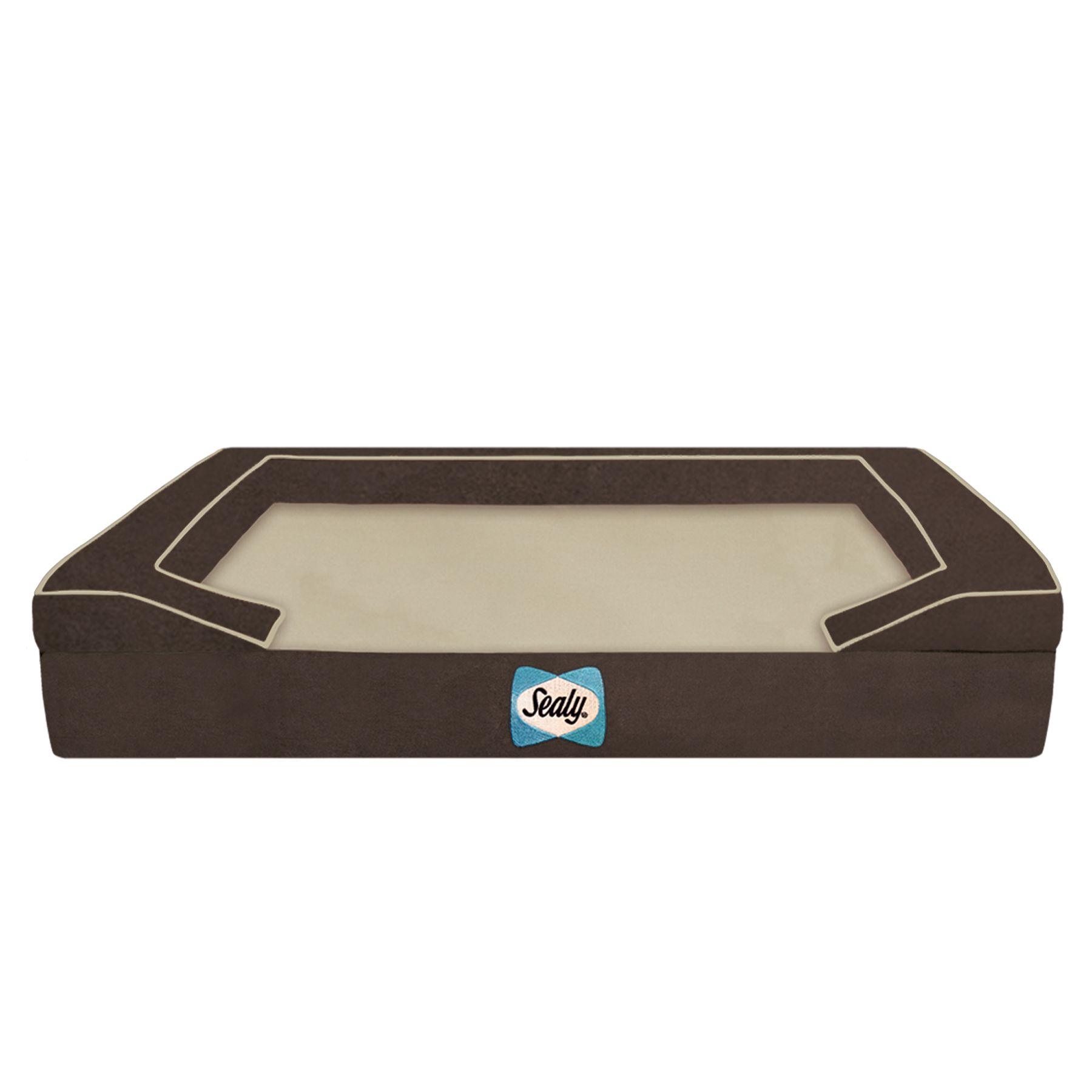 Sealy Premium Bolster Dog Bed Size 42l X 32w X 8h Autumn Brown