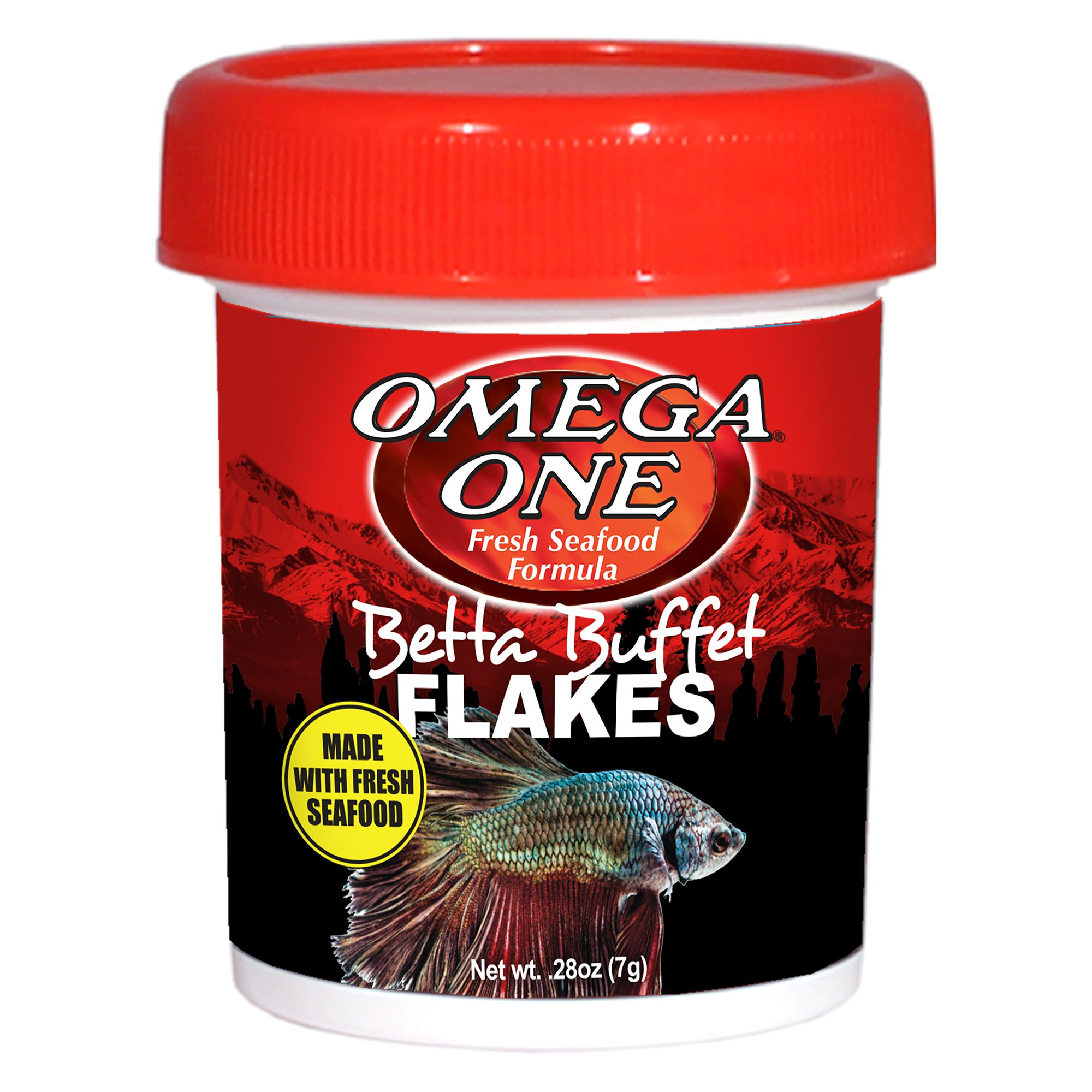 Omega Betta Buffet Flakes Fish Food Size 0.28 Oz Omega One