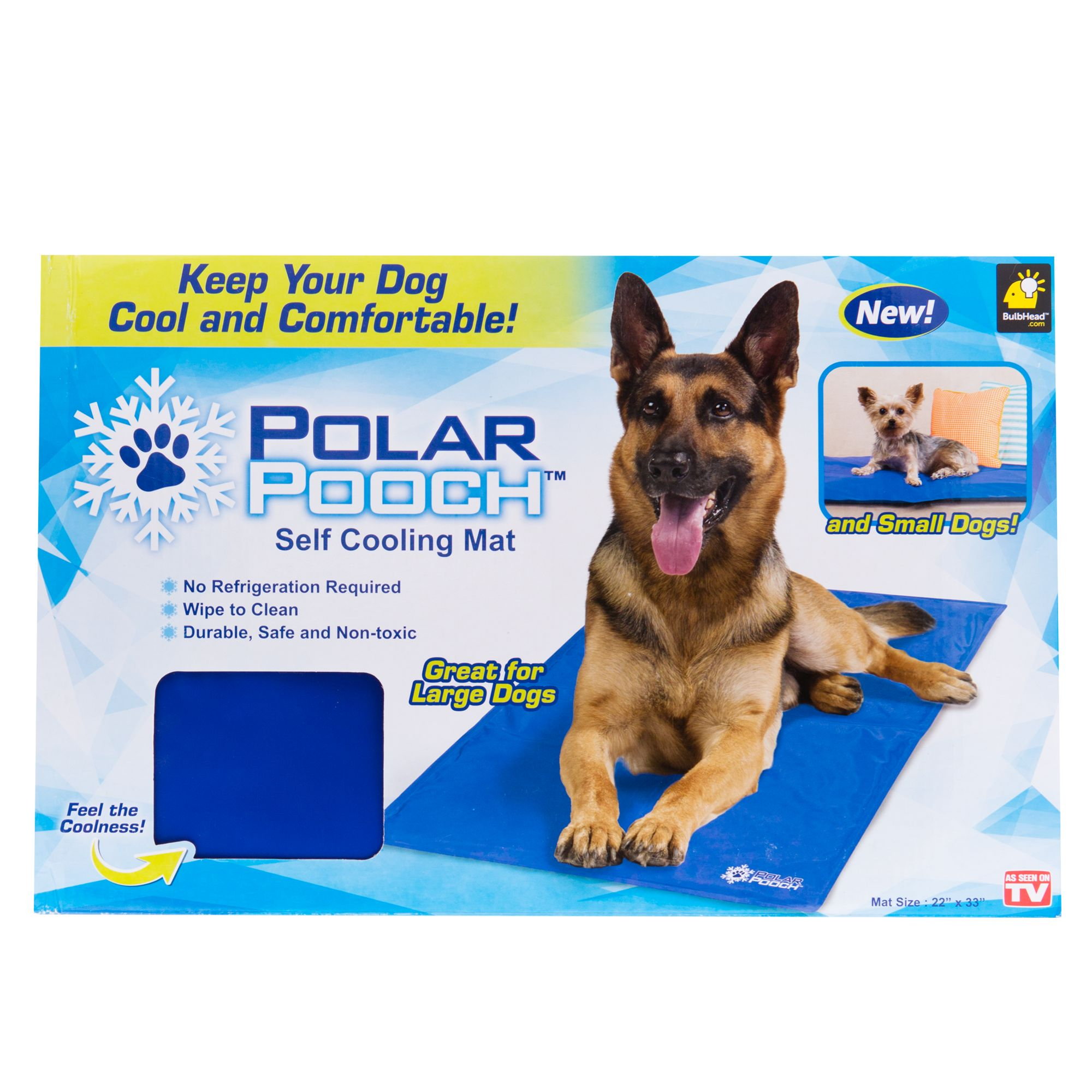 As Seen On Tv Polar Pooch Self Cooling Mat Size 22l X 30w