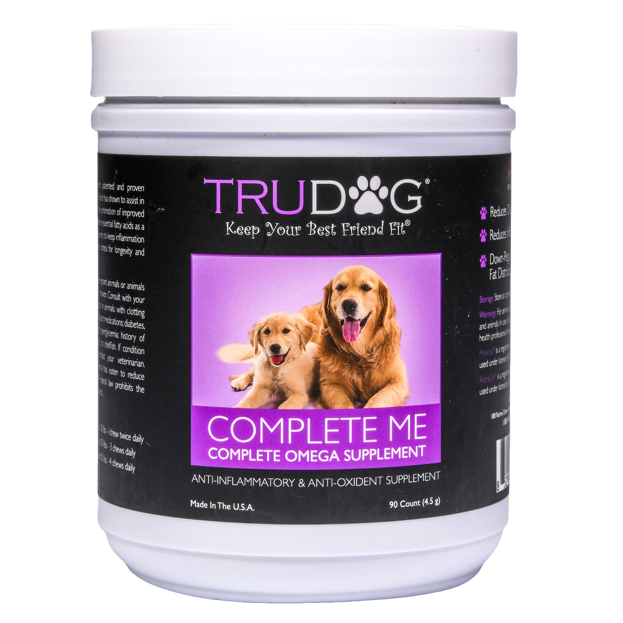 Trudog Complete Me Anti Inflammatory And Anti Oxidant Dog Supplement