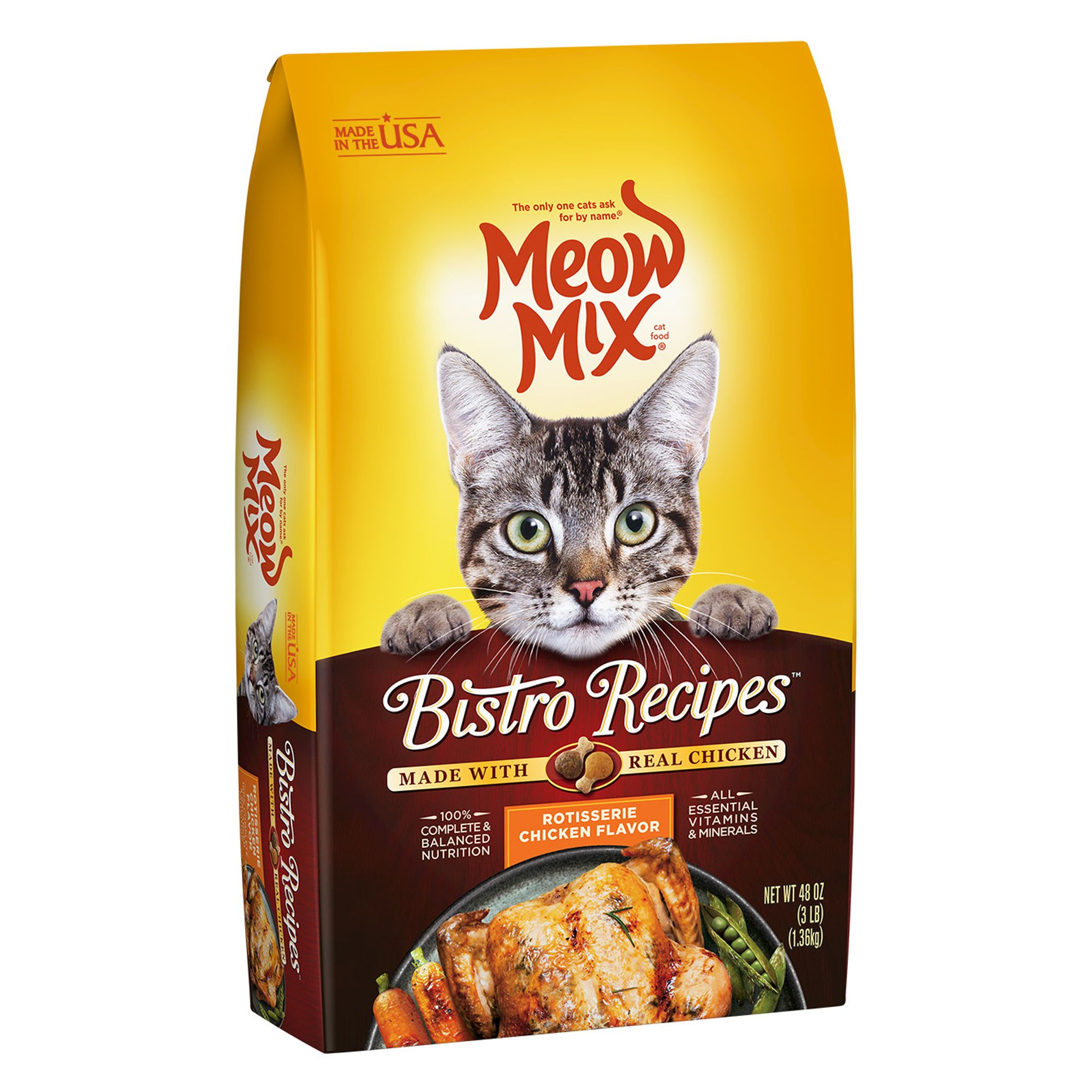 Meow Mix® Bistro Recipes Cat Food - Chicken size: 3 Lb 5251298