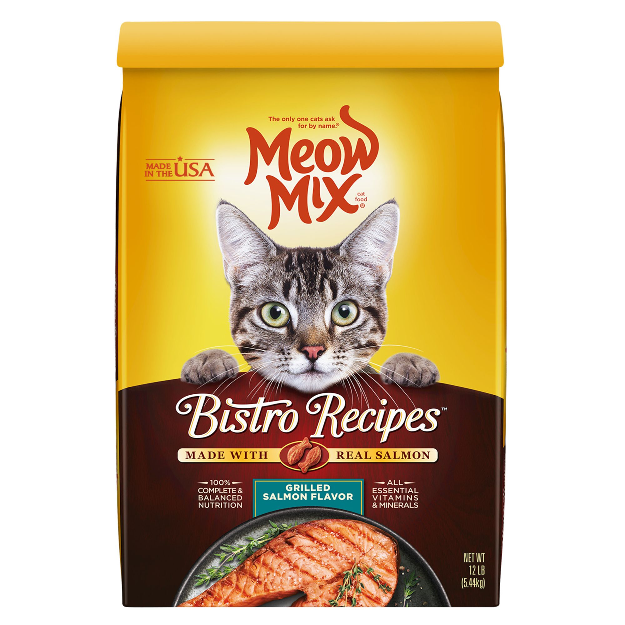 Meow Mix Bistro Recipes Cat Food Salmon Size 12 Lb
