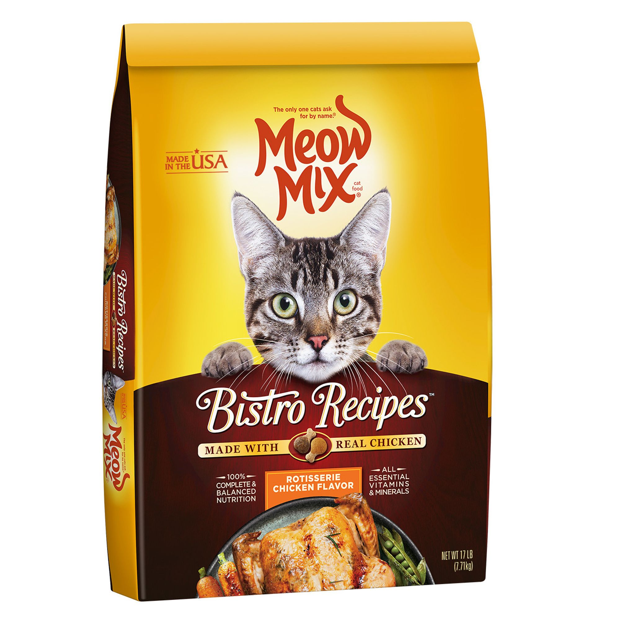 Meow Mix Bistro Recipes Cat Food Chicken Size 17 Lb