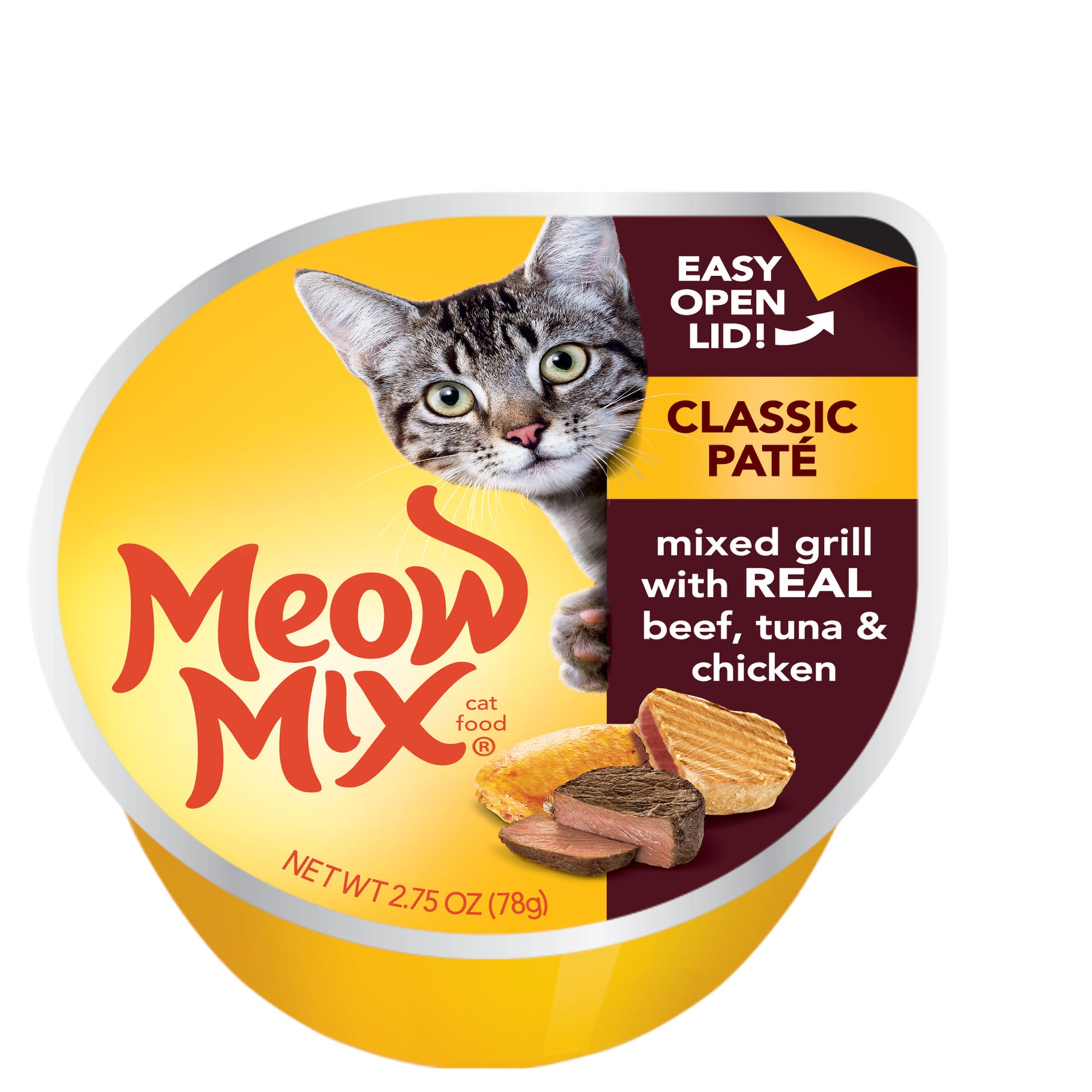 Meow Mix Classic Pate Cat Food Mixed Grill Size 2.75 Oz