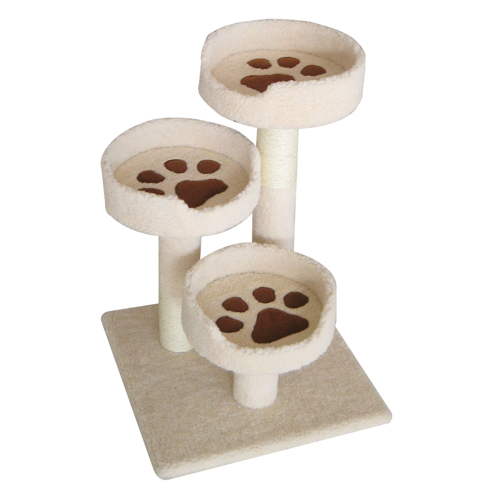 Iris 3 Tier Cat Tower Ivory
