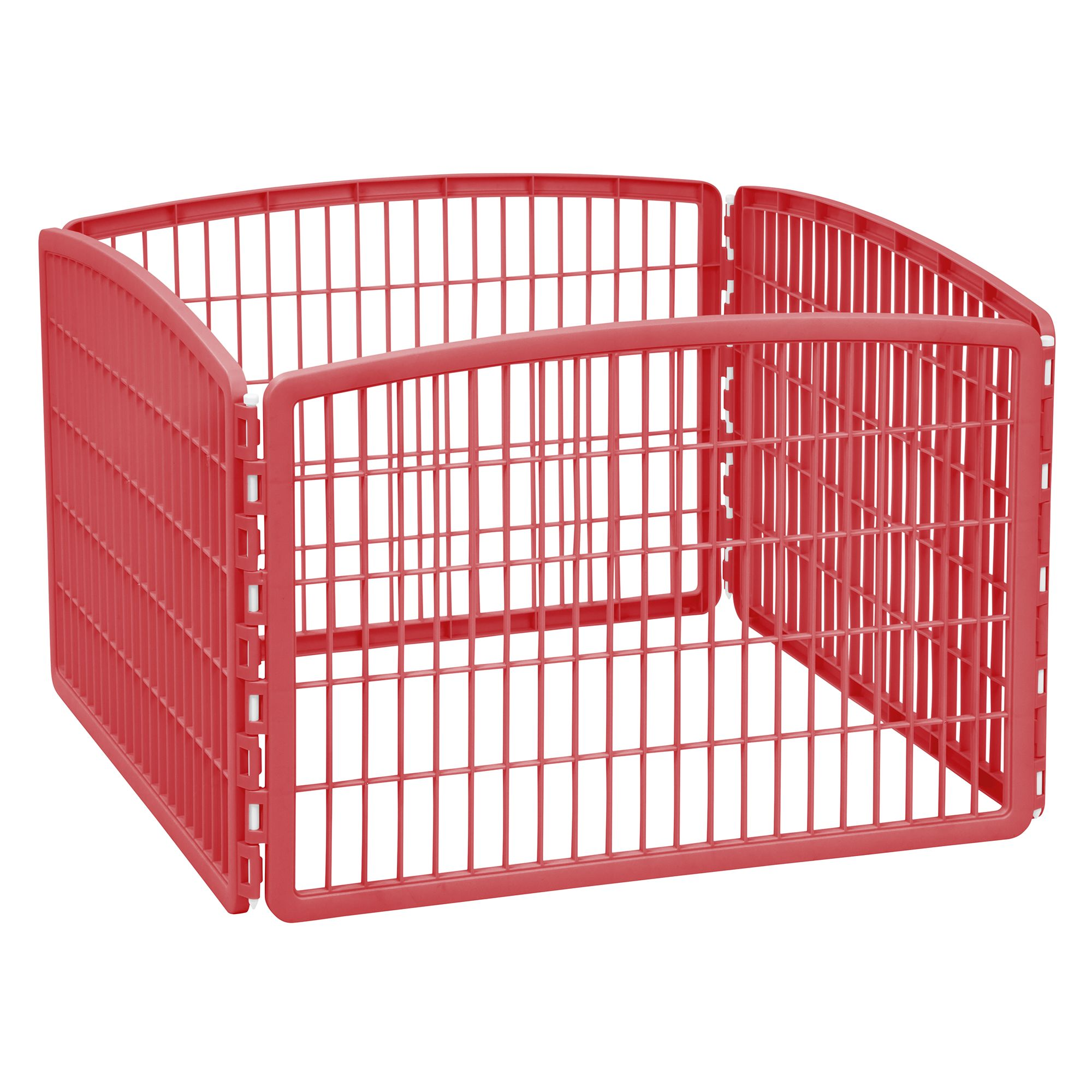 Iris 4 Panel Pet Pen Garnet Red