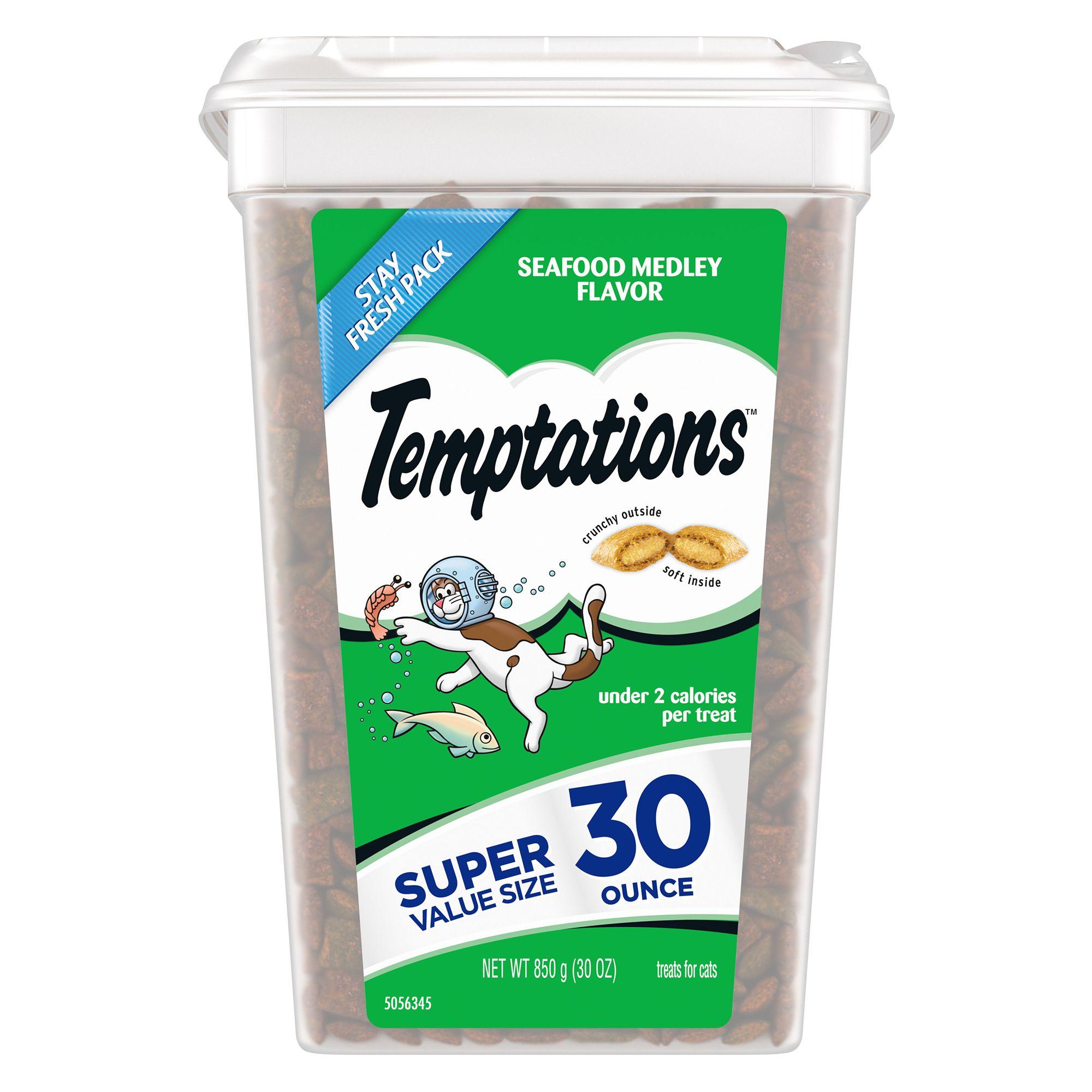 Temptations Cat Treat Seafood Medley Size 30 Oz