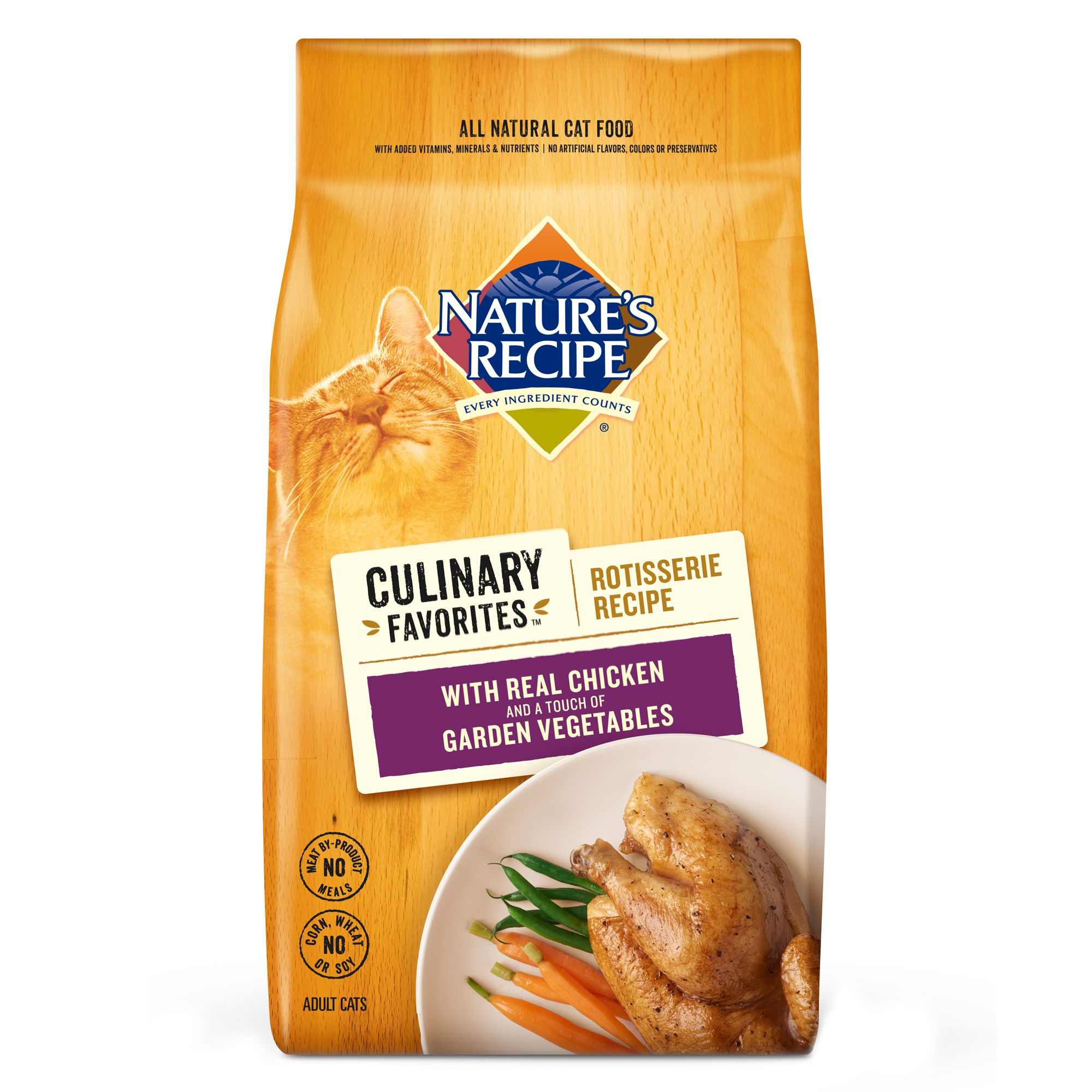 Nature's Recipe Culinary Favorites Rotisserie Adult Cat Food - Natural, Chicken and Vegetables size: 11 Lb 5251868