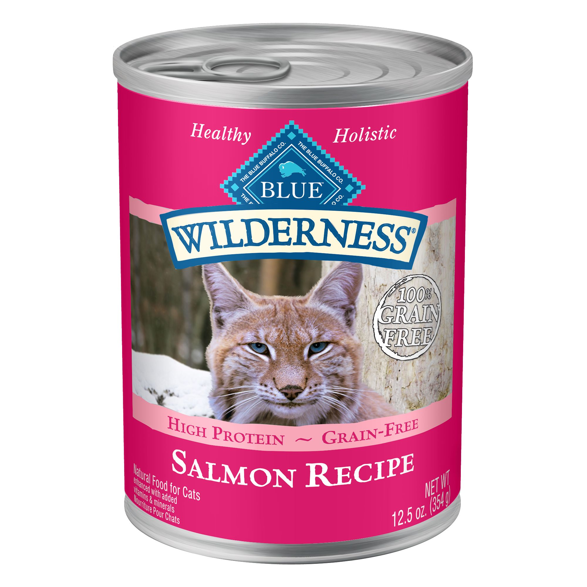 Blue Wilderness Adult Cat Food Natural Grain Free Salmon Size 12.5 Oz Blue Buffalo