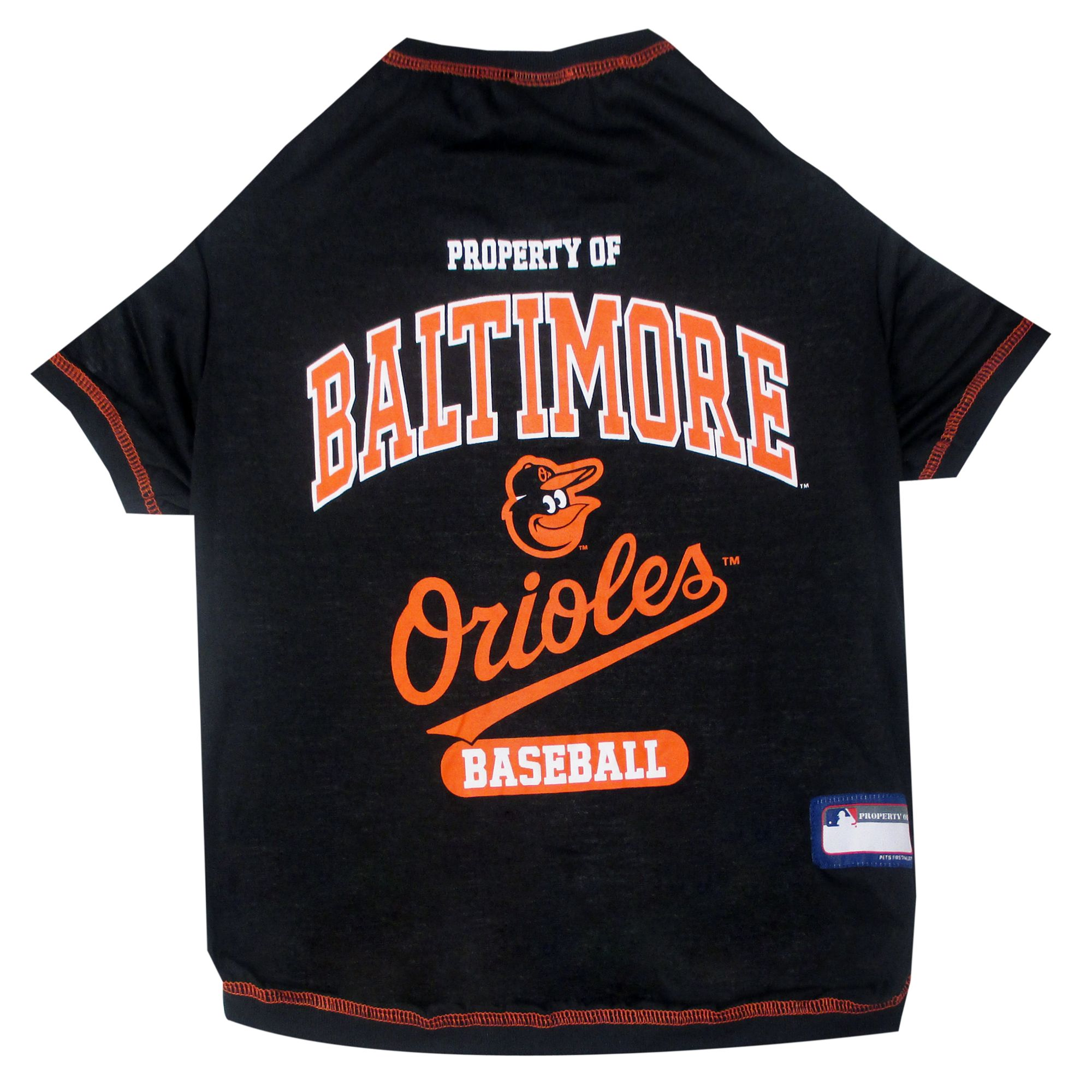 Baltimore Orioles Mlb Team Tee Size Small Pets First