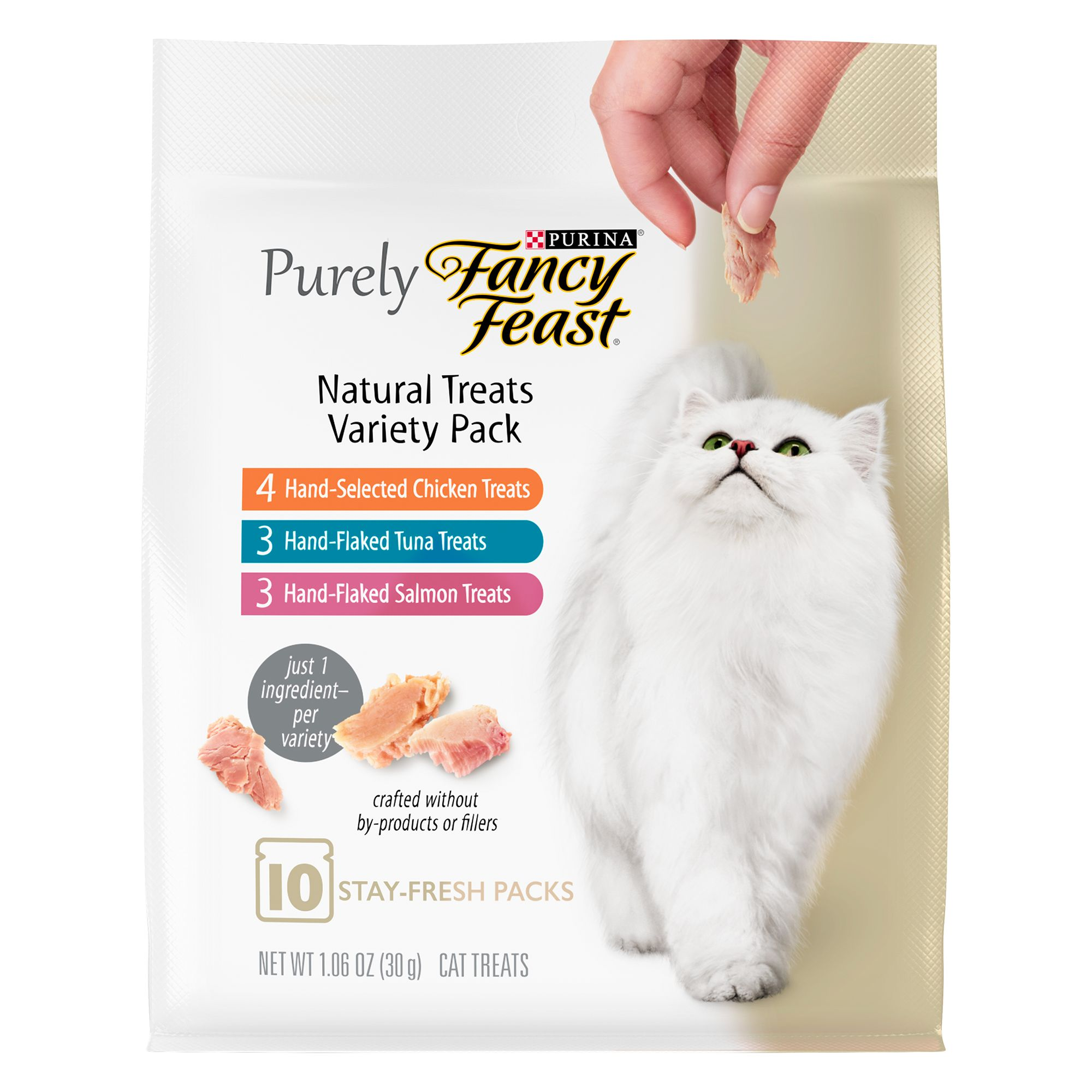 Purely Fancy Feast Cat Treat - Natural, Variety Pack size: 1.06 Oz 5252517