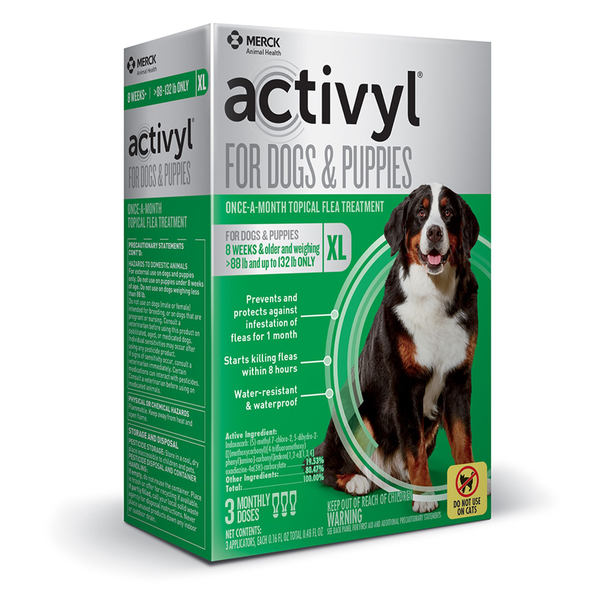Activyl Dog 89 132 Lb Dog Flea And Tick Dog Treatment Size 3 Count