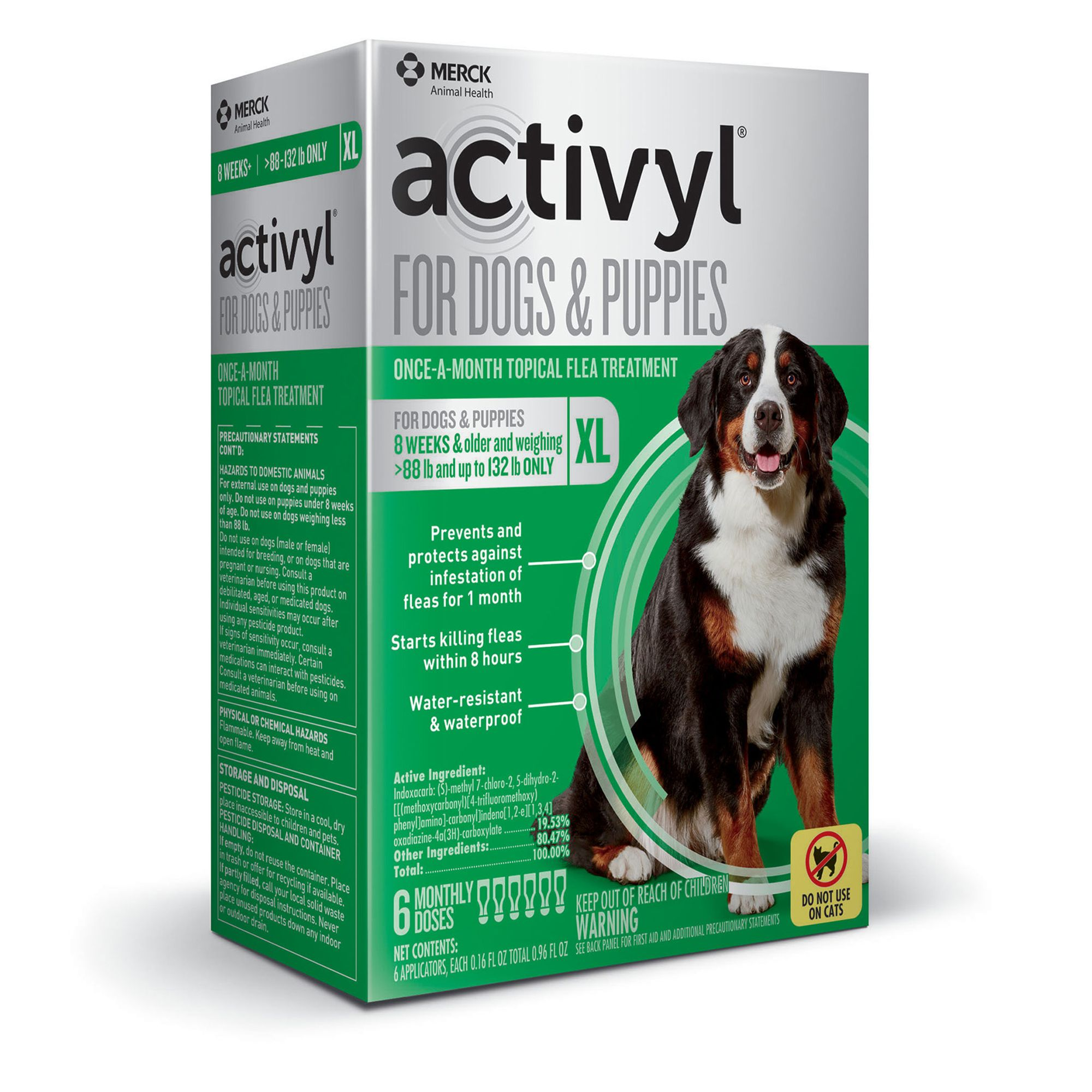 Activyl Dog 89 132 Lb Dog Flea And Tick Dog Treatment Size 6 Count