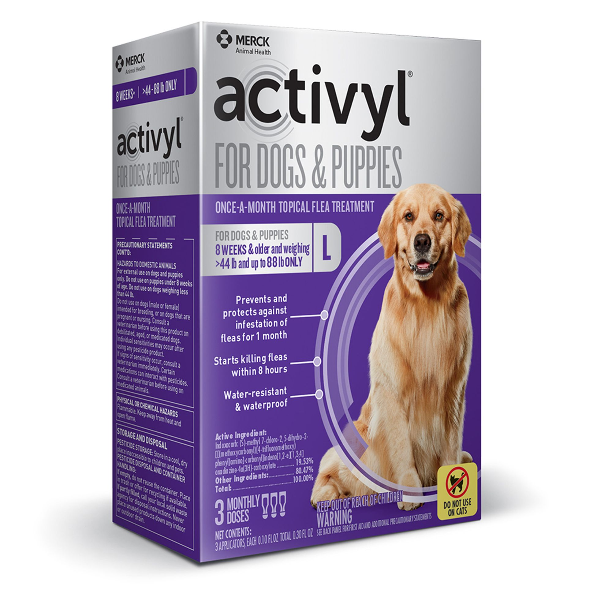 Activyl Dog 45 88 Lb Flea And Tick Dog Treatment Size 3 Count