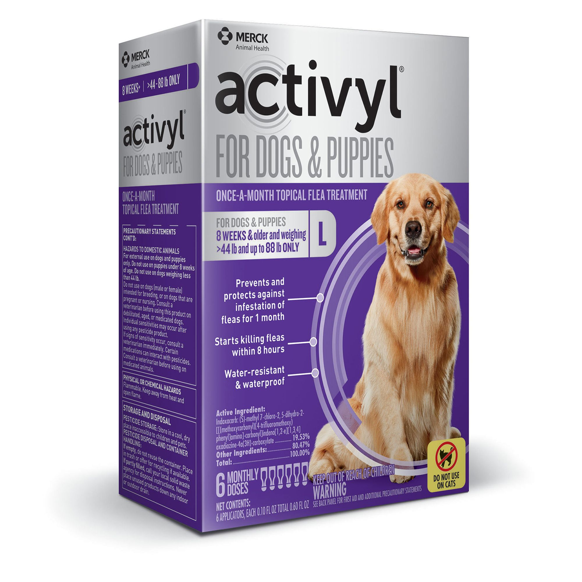 Activyl Dog 45 88 Lb Flea And Tick Dog Treatment Size 6 Count