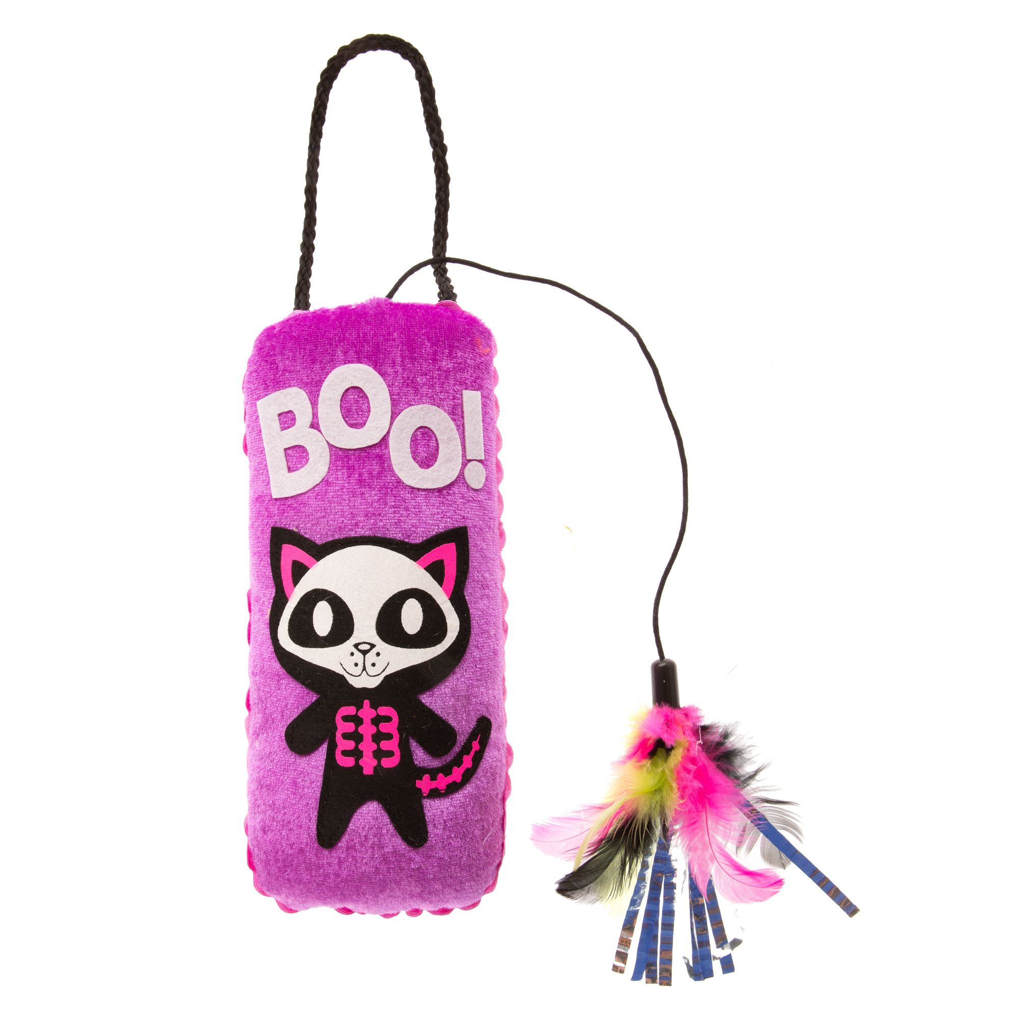 Thrills and Chills, Pet Halloween Dangler Black Cat Toy 5252844
