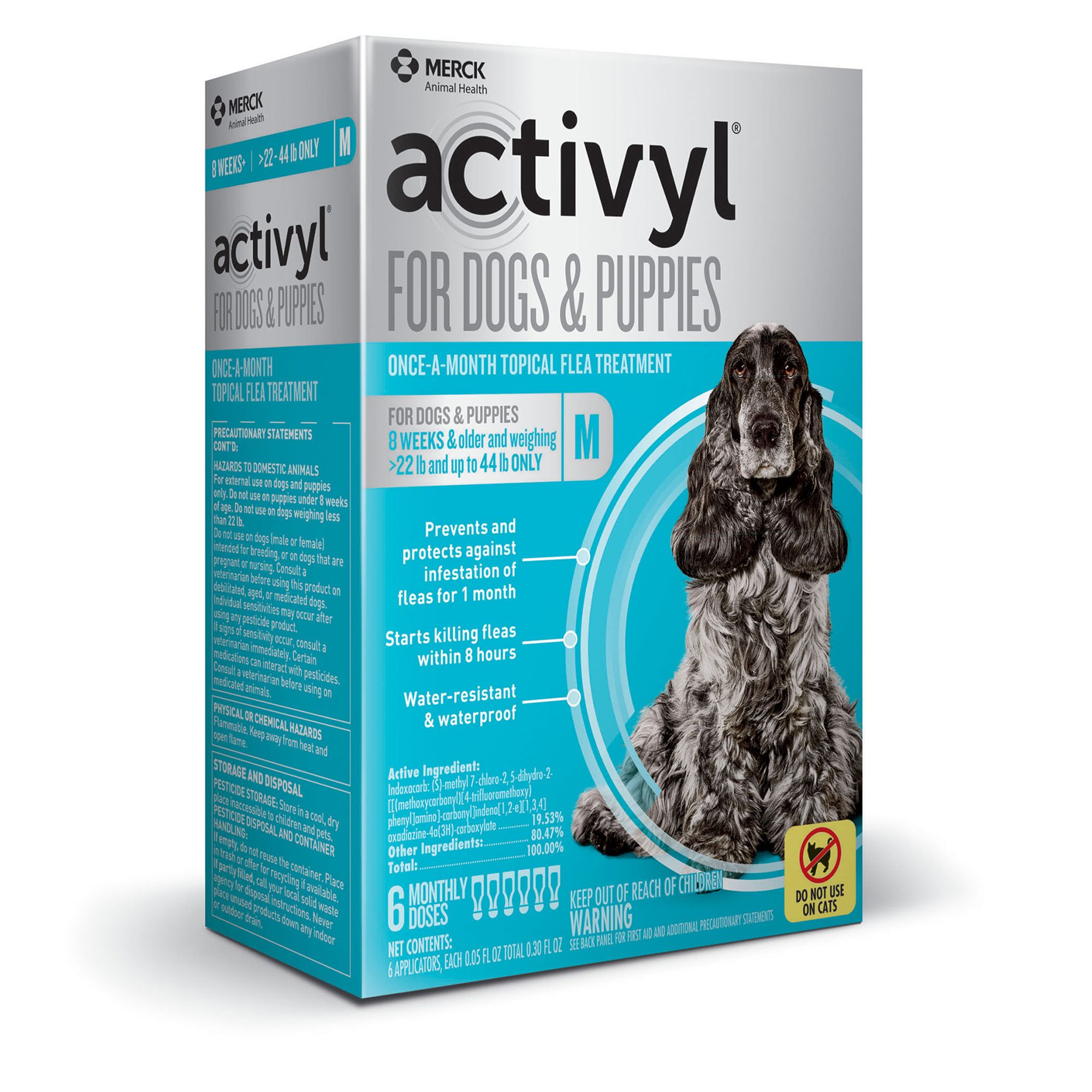 Activyl Dog 23 44 Lb Flea And Tick Dog Treatment Size 6 Count