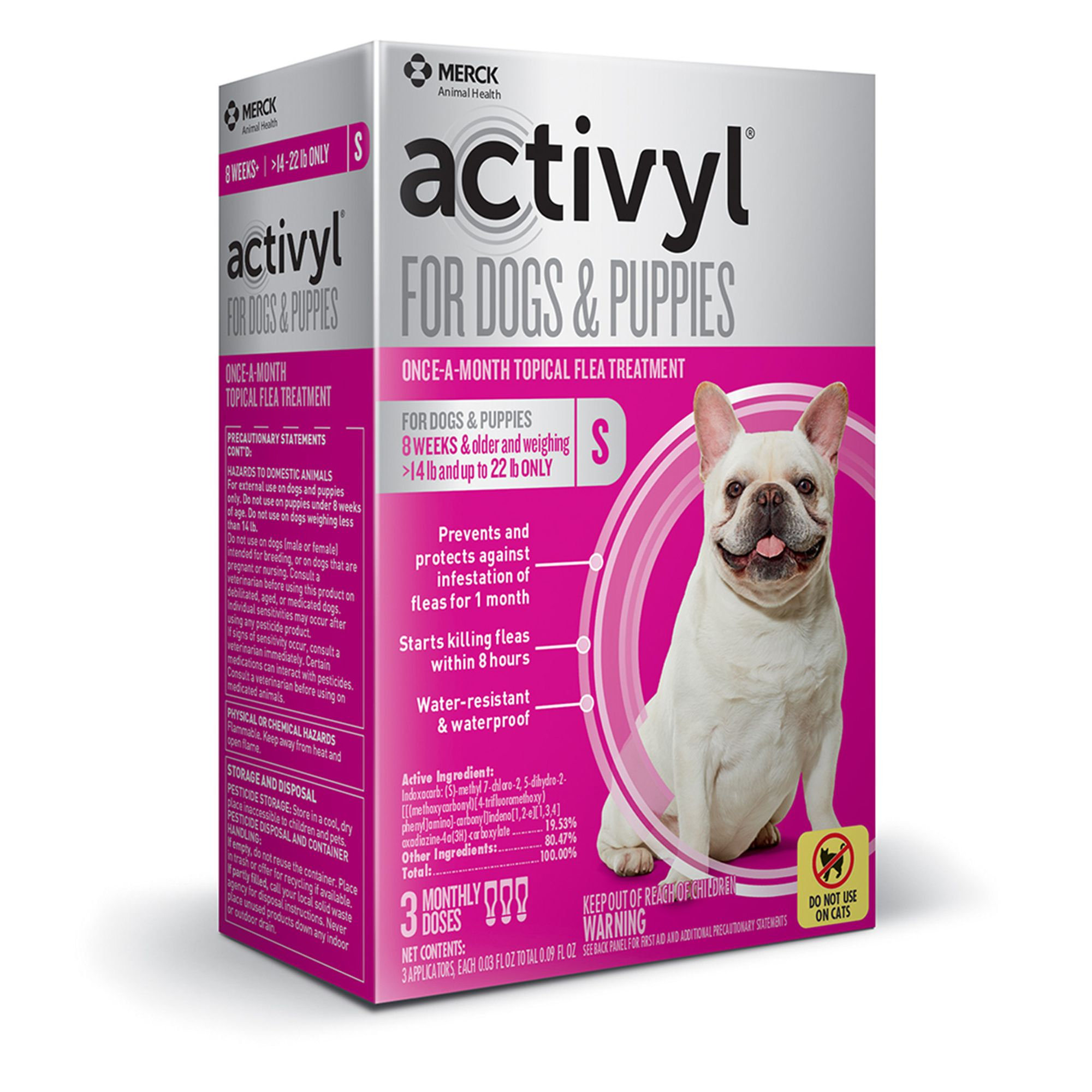 Activyl Dog 15 22 Lb Flea And Tick Dog Treatment Size 3 Count