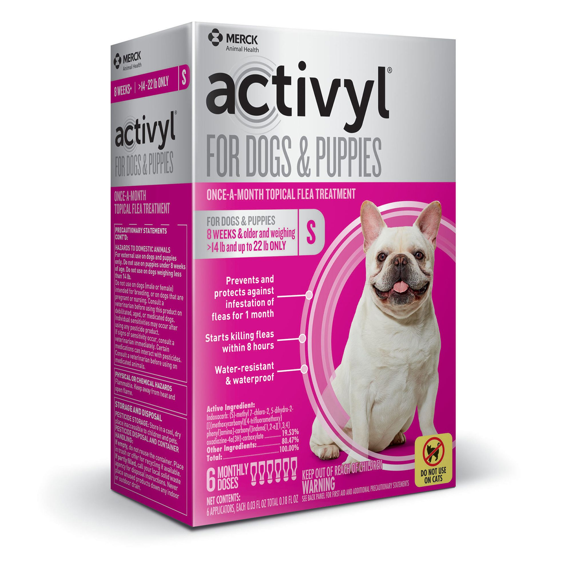 Activyl Dog 15 22 Lb Flea And Tick Dog Treatment Size 6 Count