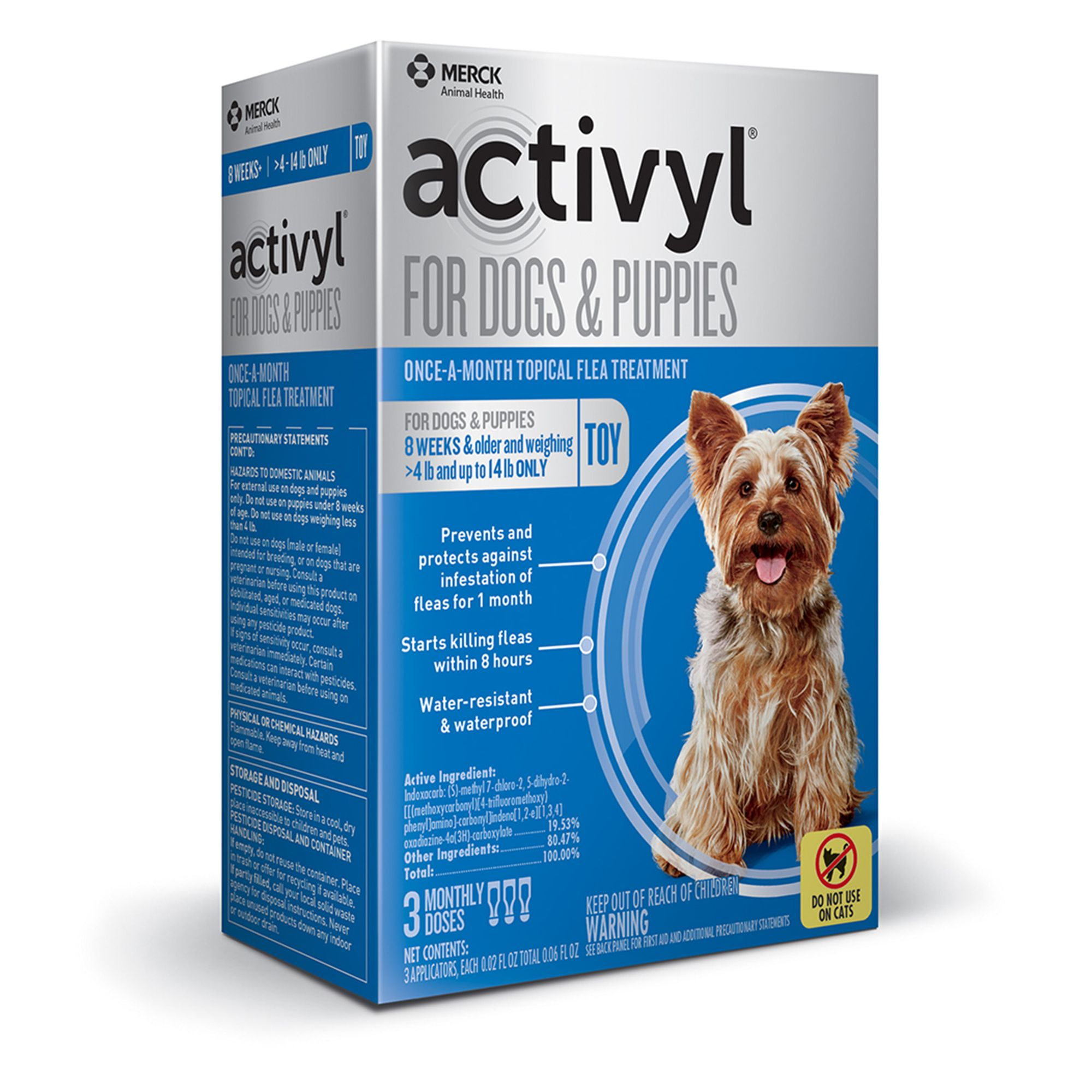 Activyl Dog 4 14 Lb Flea And Tick Dog Treatment Size 3 Count