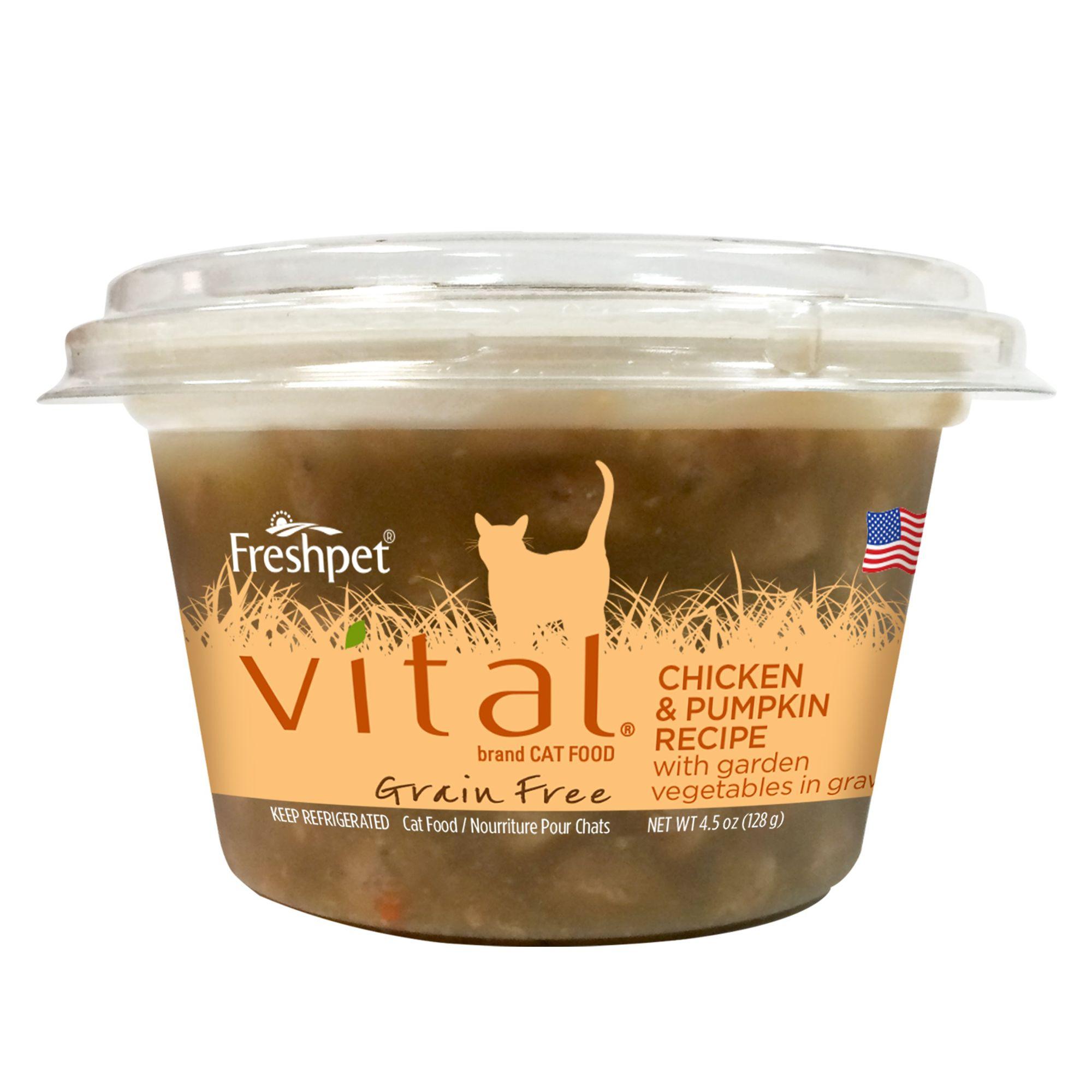 Freshpet Vital Cat Food Grain Free Chicken And Pumpkin Size 4.5 Oz