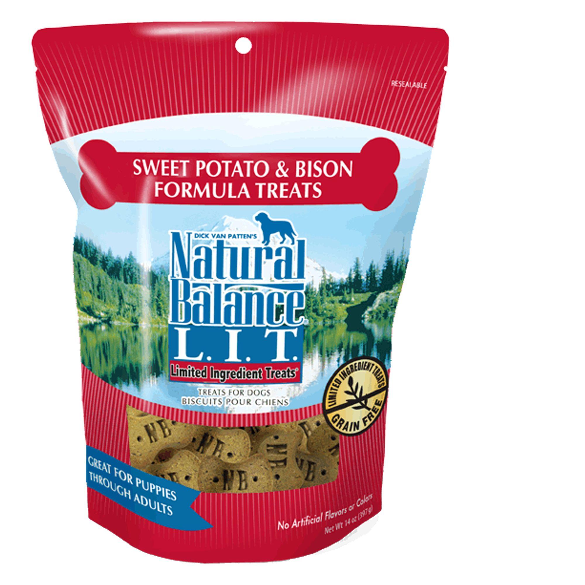Natural Balance Limited Ingredient Treats Dog Treat - Grain Free, Sweet Potato and Bison size: 14 Oz, Sweet Potato & Bison, Dry, Adult, Dried Potatoes