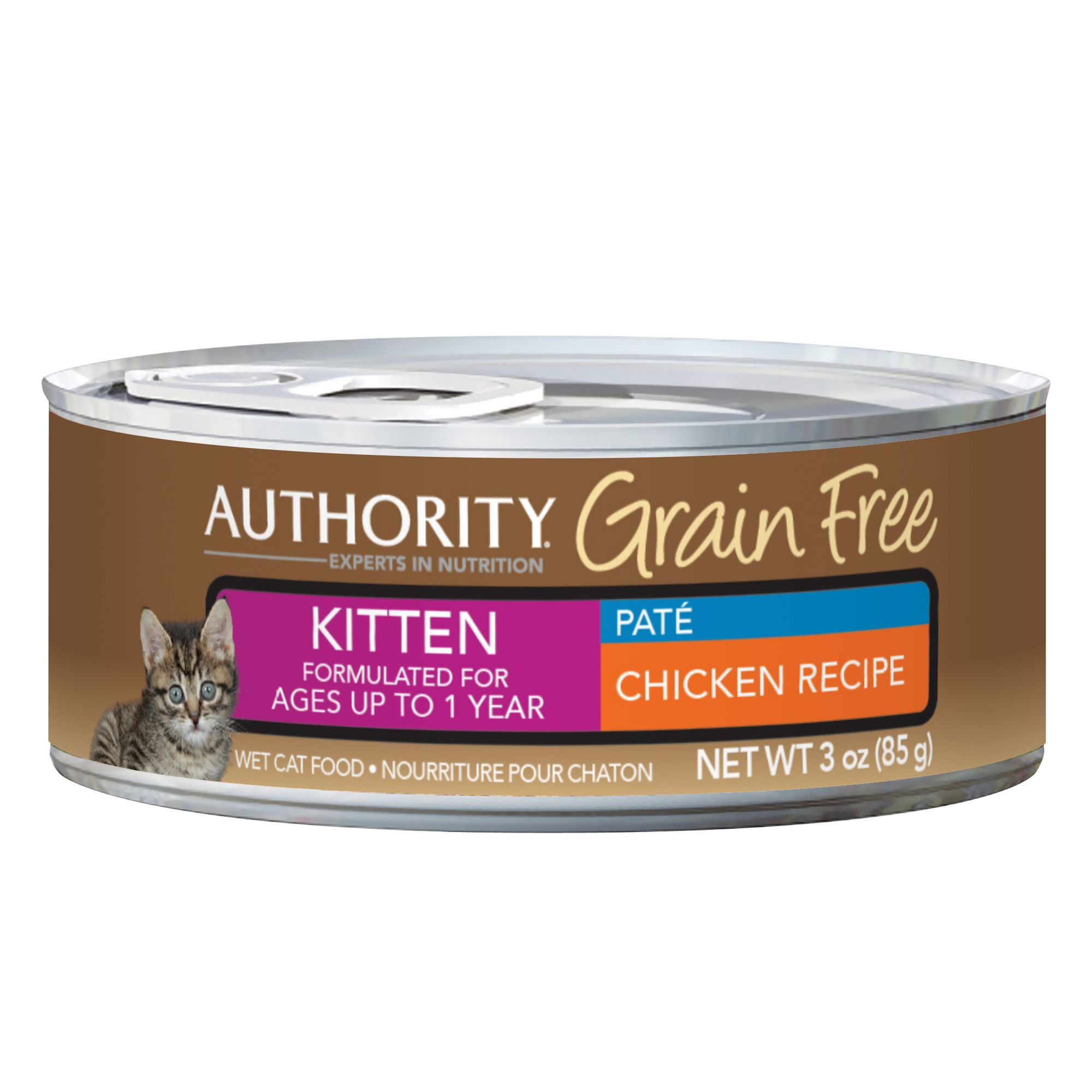 Authority Grain Free Kitten Food Chicken Size 3 Oz